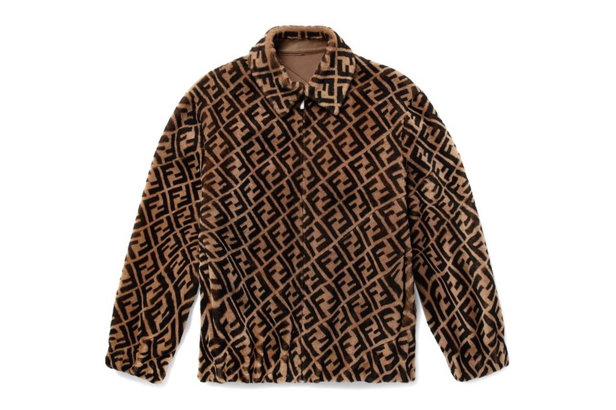 Fendi Reversible Leather and Shearling Jacket