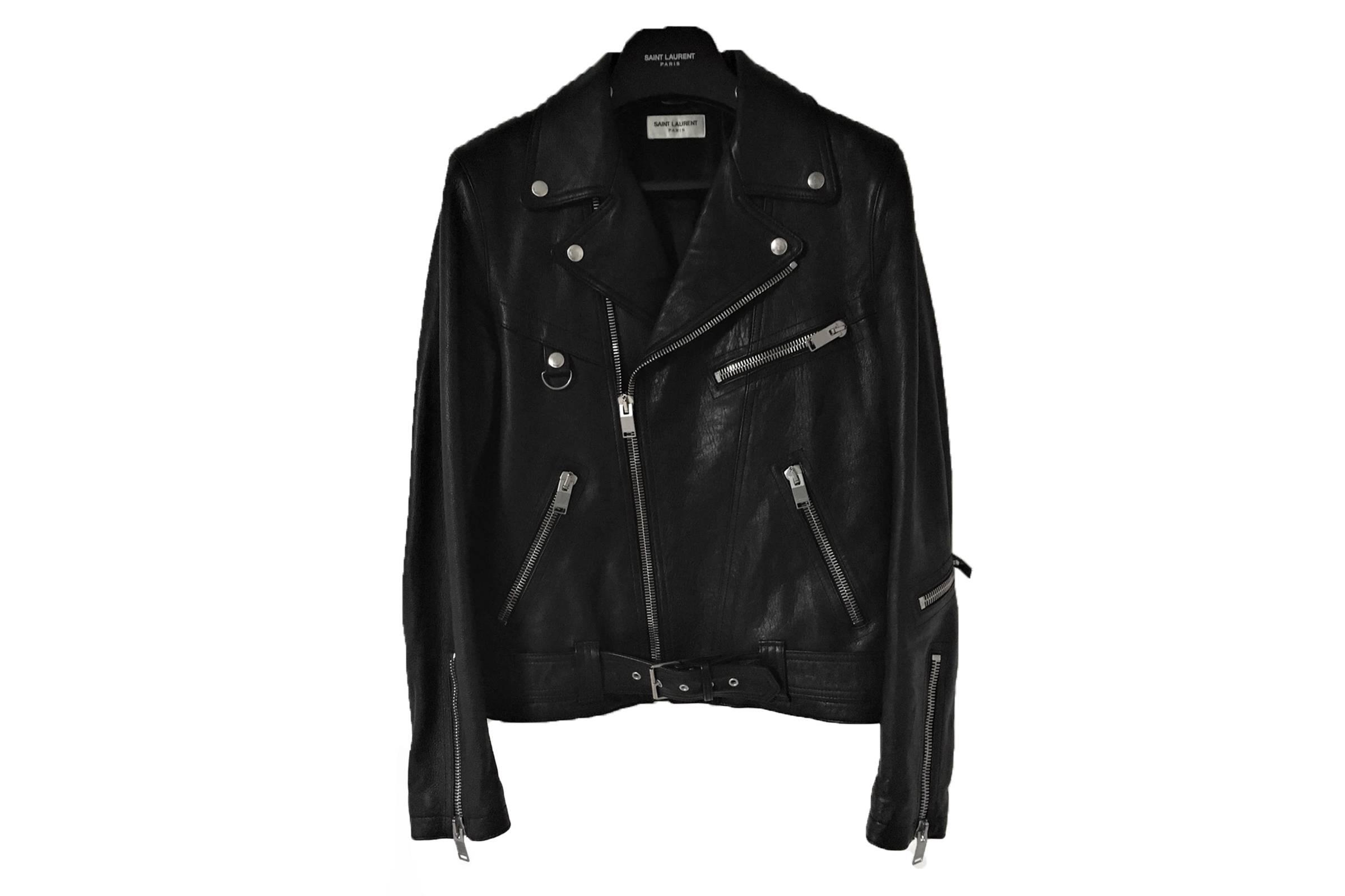 Saint Laurent Paris Leather Biker Jacket