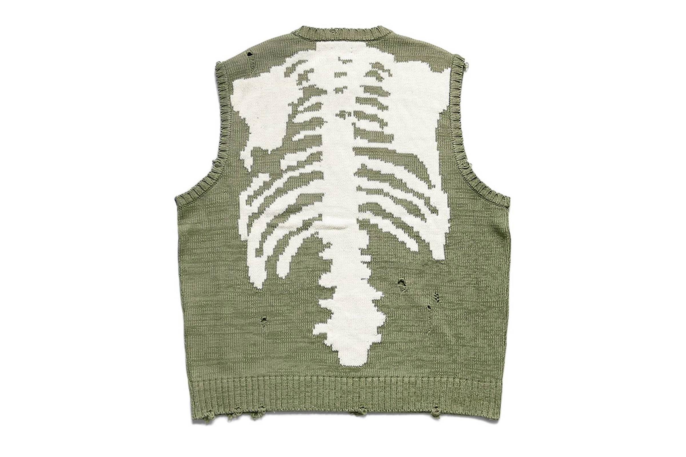 Kapital 5G Knit Bone Vest