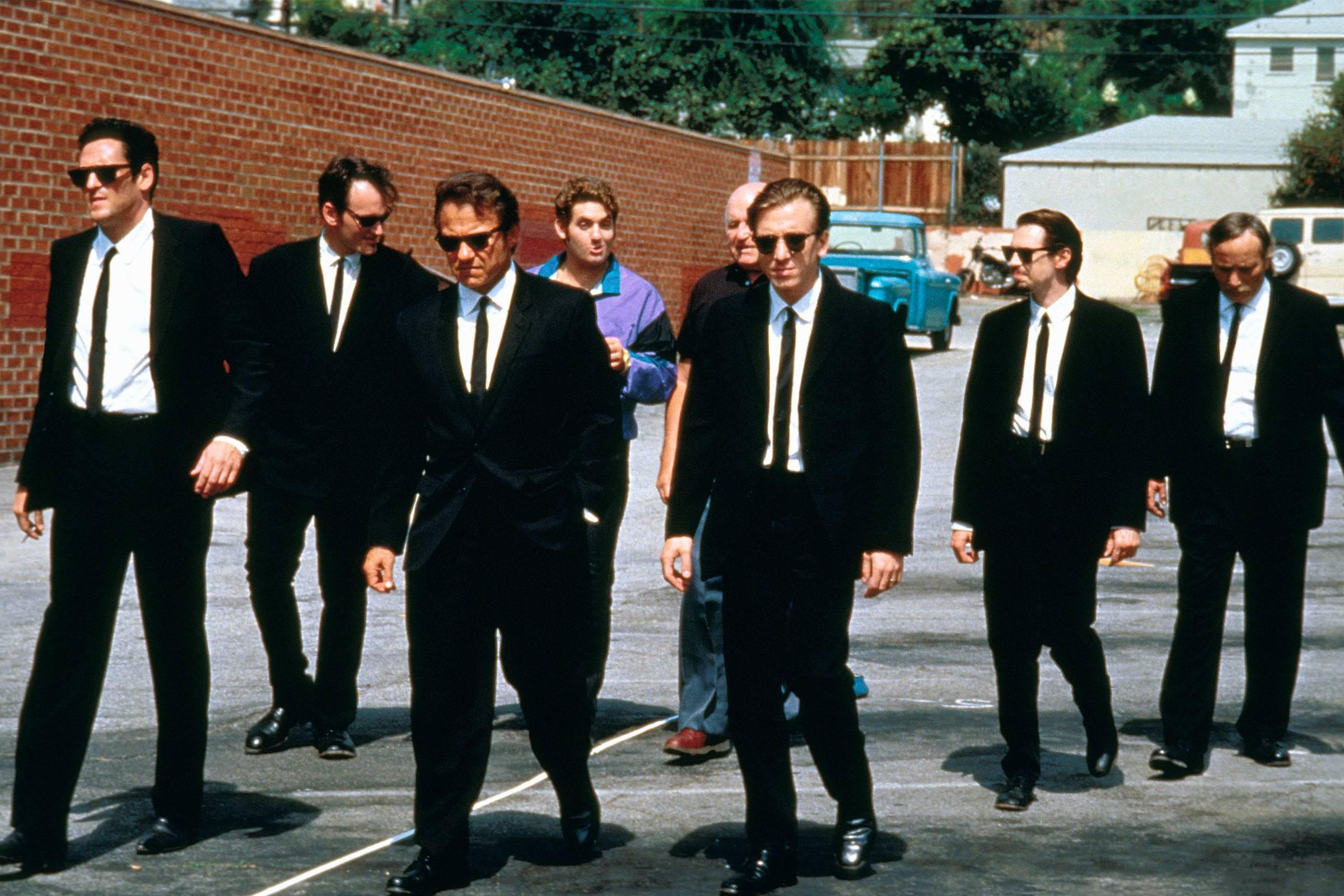"""Mr. Blonde, Mr. Blue, Mr. Brown, Mr. Orange, Mr. Pink and Mr. White (""""Reservoir Dogs"""", 1992)"""