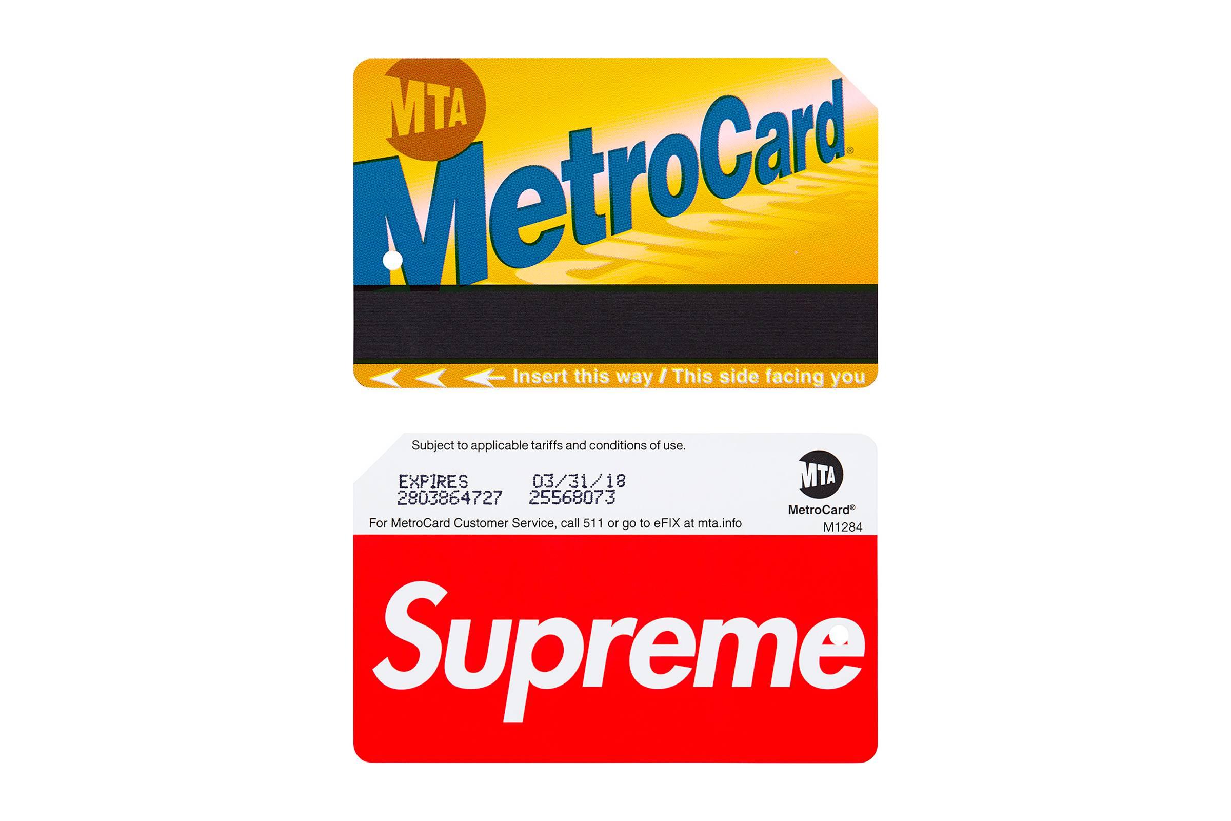 Supreme Metrocard (Spring/Summer 2017)