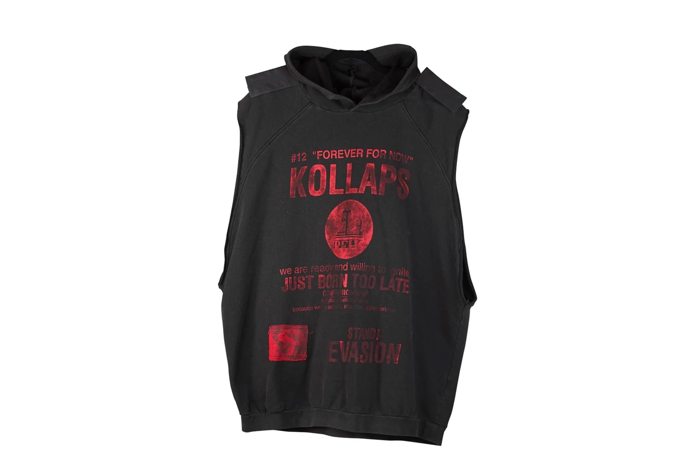 """Raf Simons """"Kollaps"""" Hooded Sweatshirt"""