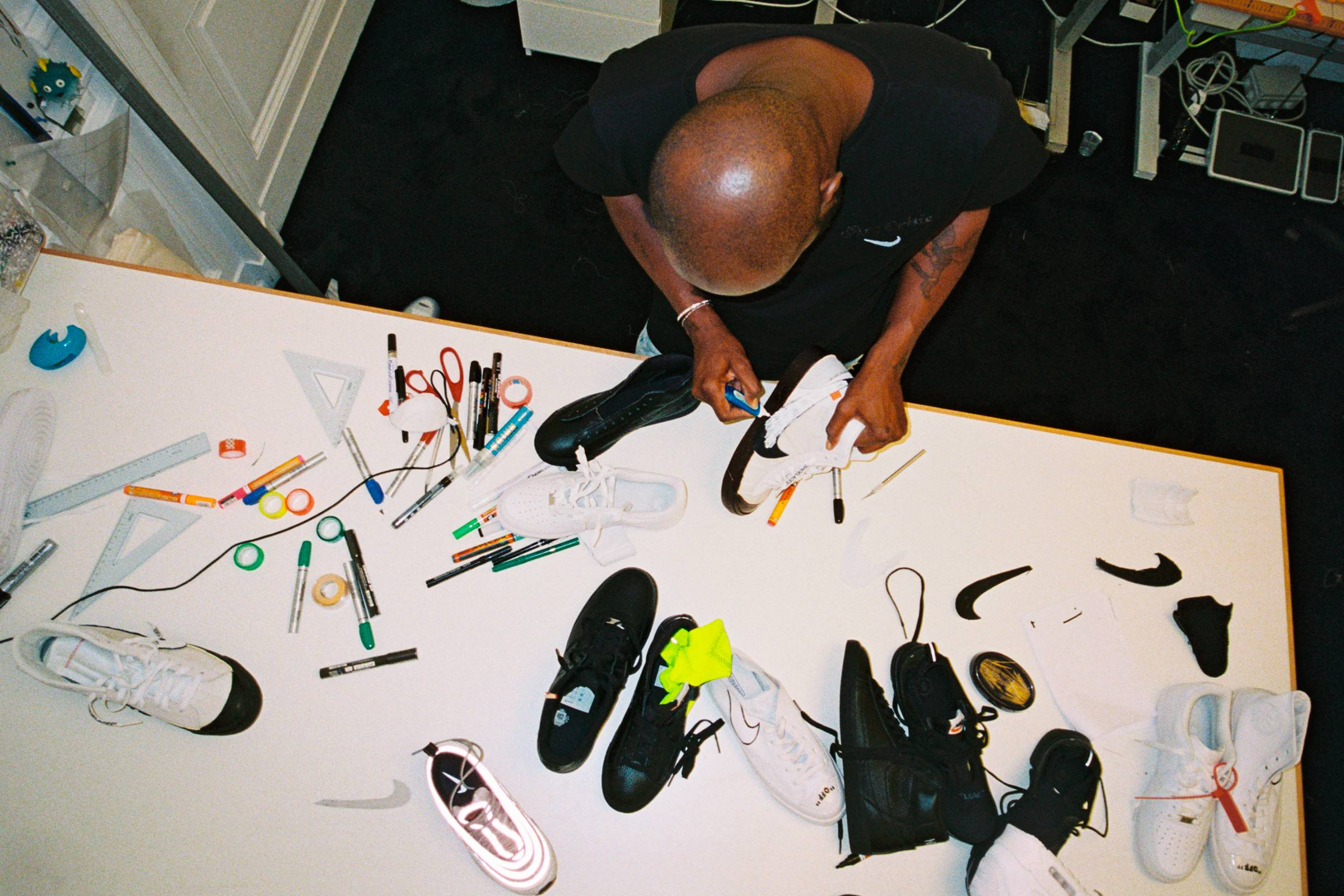 "Abloh working on concepts for ""The Ten"""