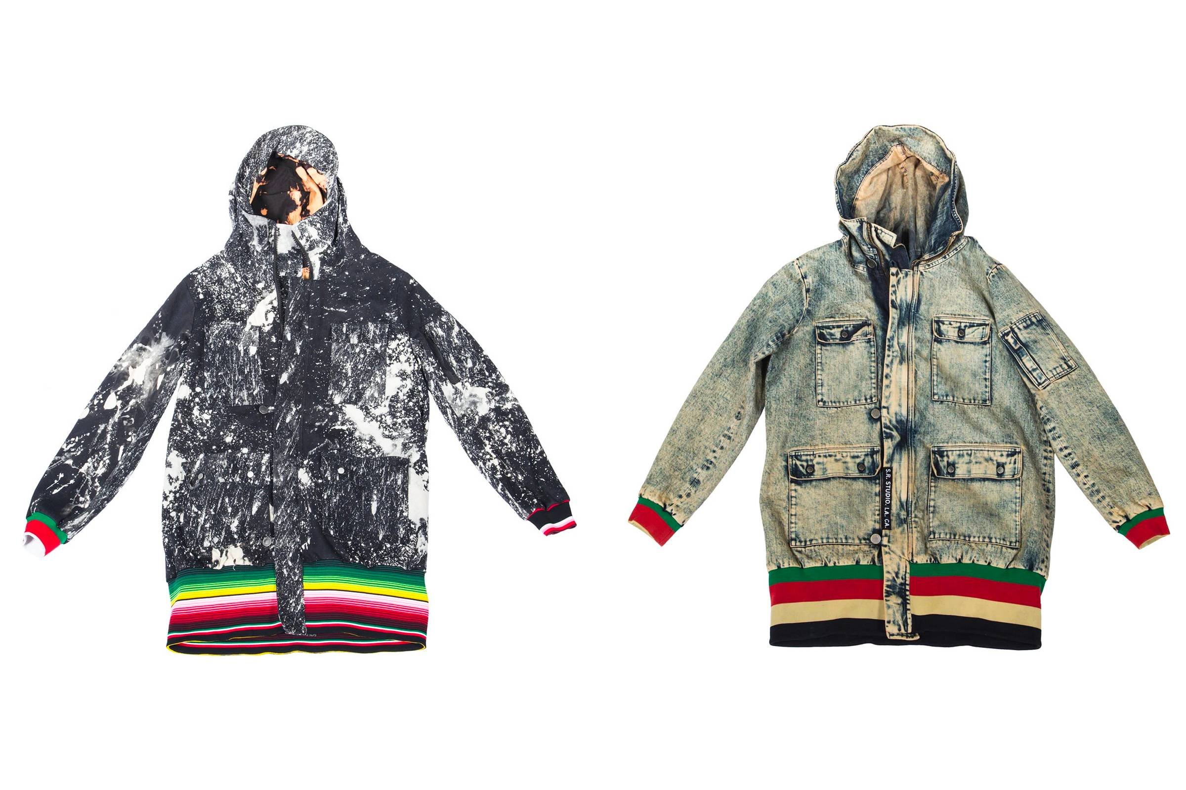 """306 Hooded Coat (#5862.0002),"" 2013 (left) and ""306 Hooded Coat (#5862.0001),"" 2014."