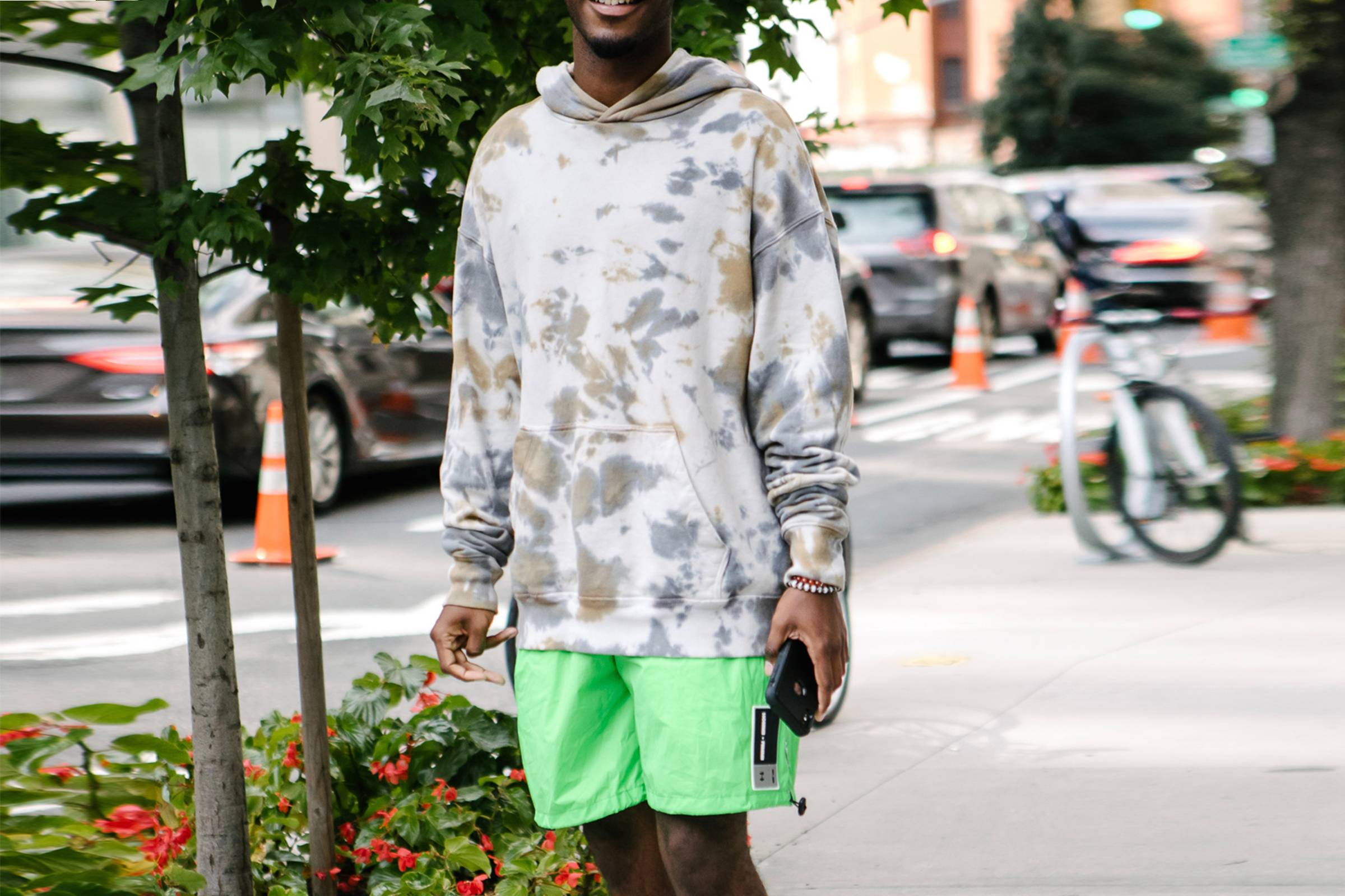 2. Shorts and Statement Hoodies