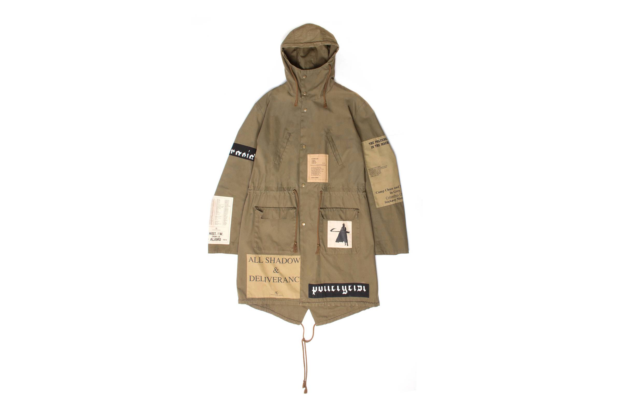 "Raf Simons Fall/Winter 2005 ""History of My World"" Poltergeist Fishtail Parka"