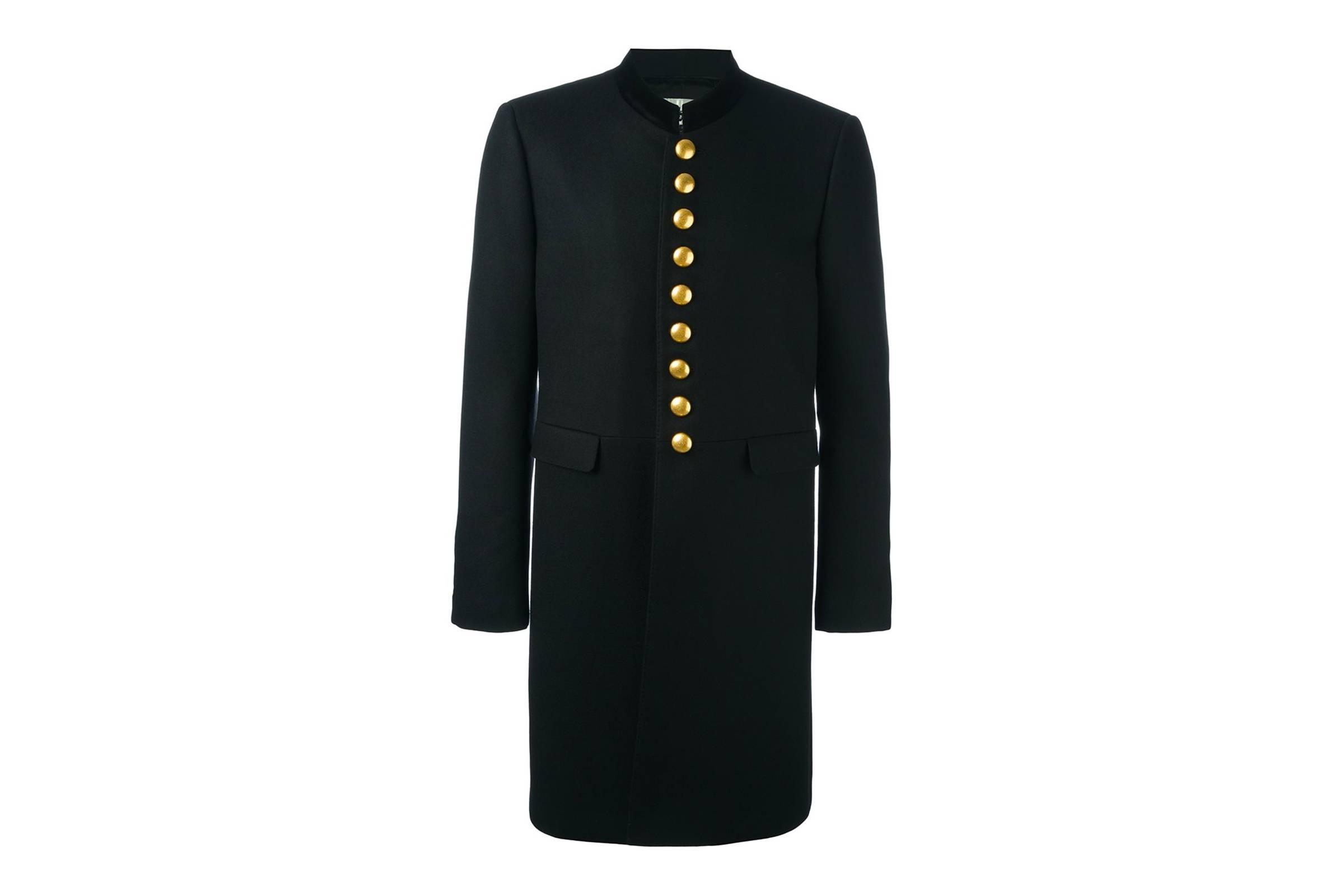 8. Saint Laurent Officer Coat