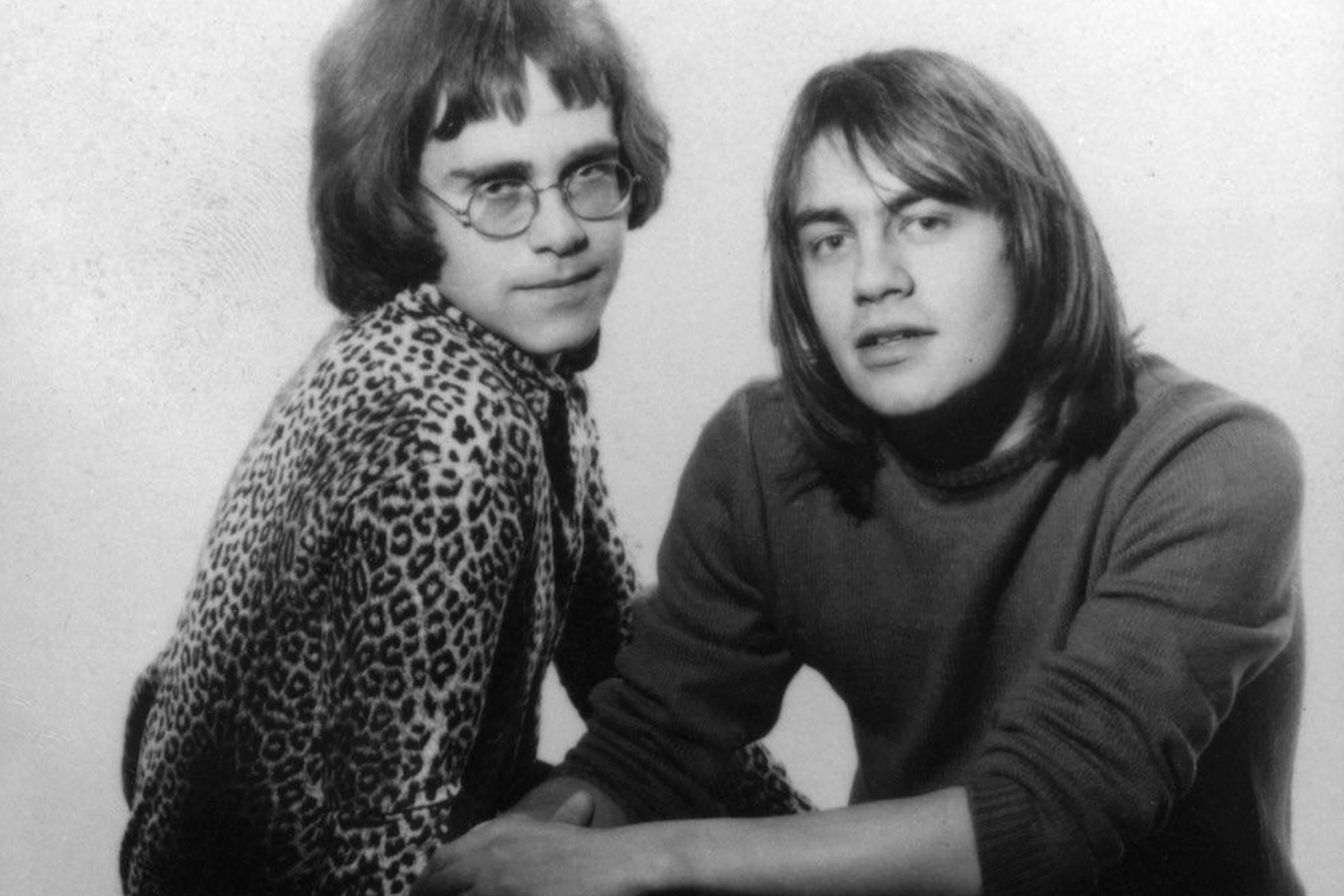 Elton John (left) with Bernie Taupin, 1968