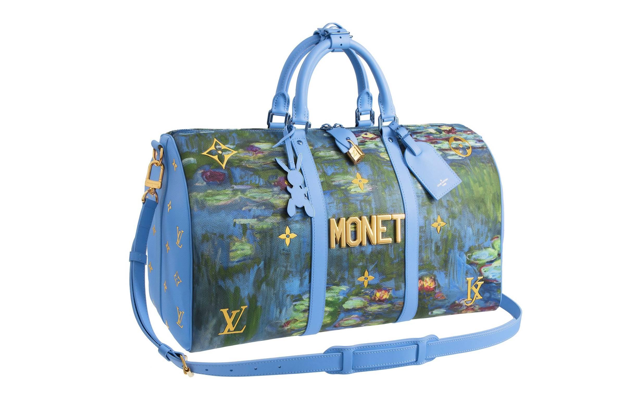 "Jeff Koons x Louis Vuitton Keepall 50 Bandouliere ""Claude Monet"""