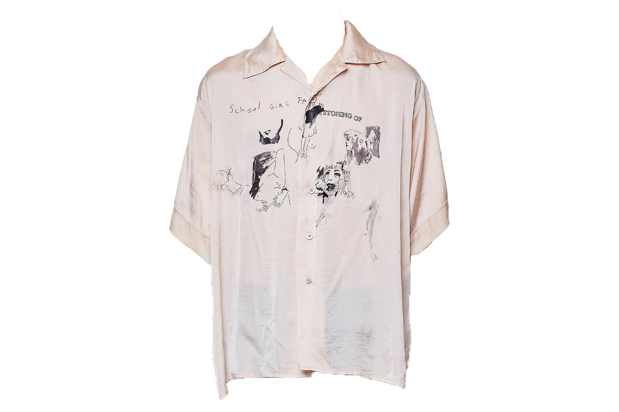 Enfants Riches Deprimes School Girls Silk Shirt