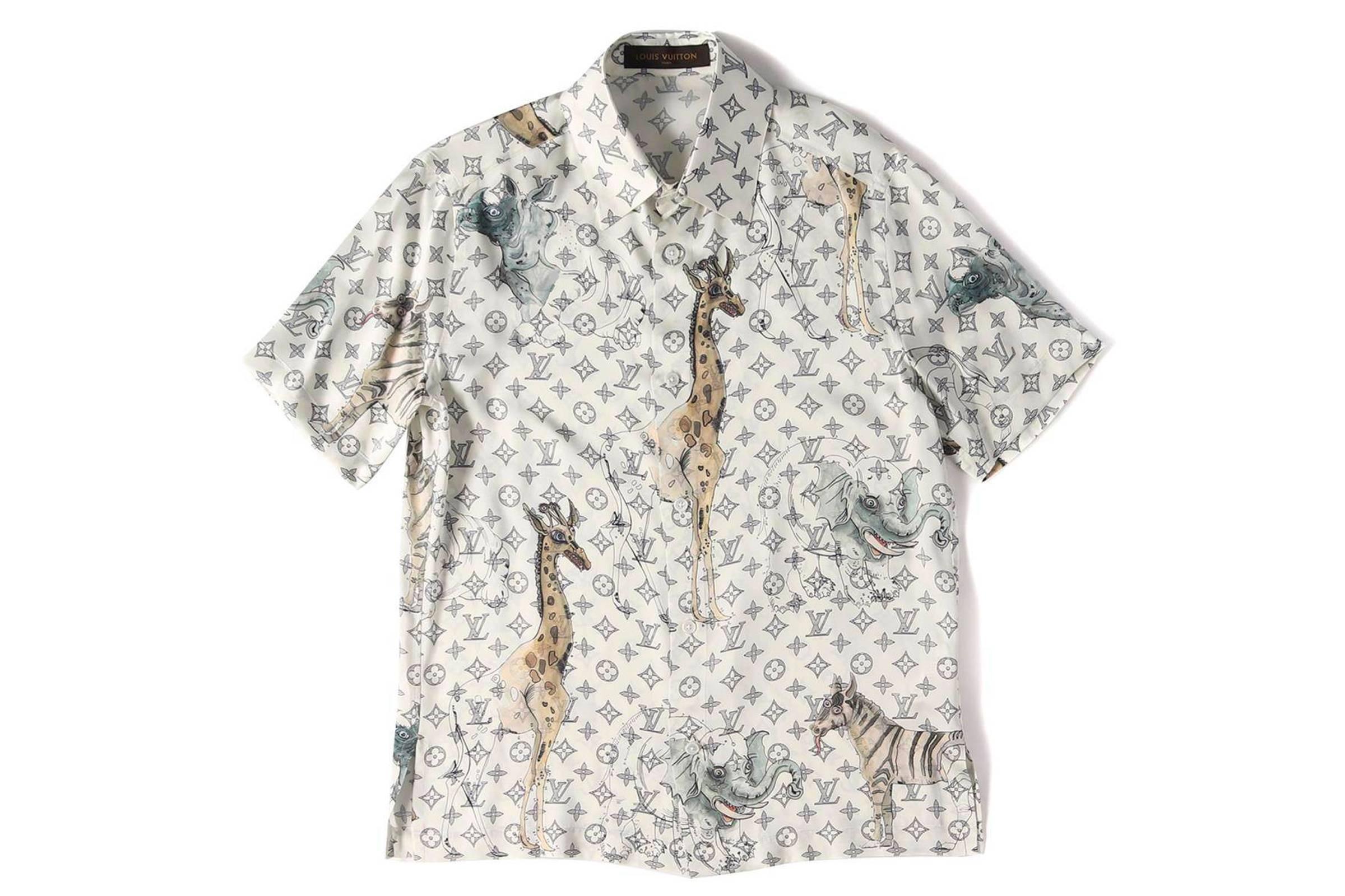 Louis Vuitton x Chapman Brothers Silk Giraffe Shirt