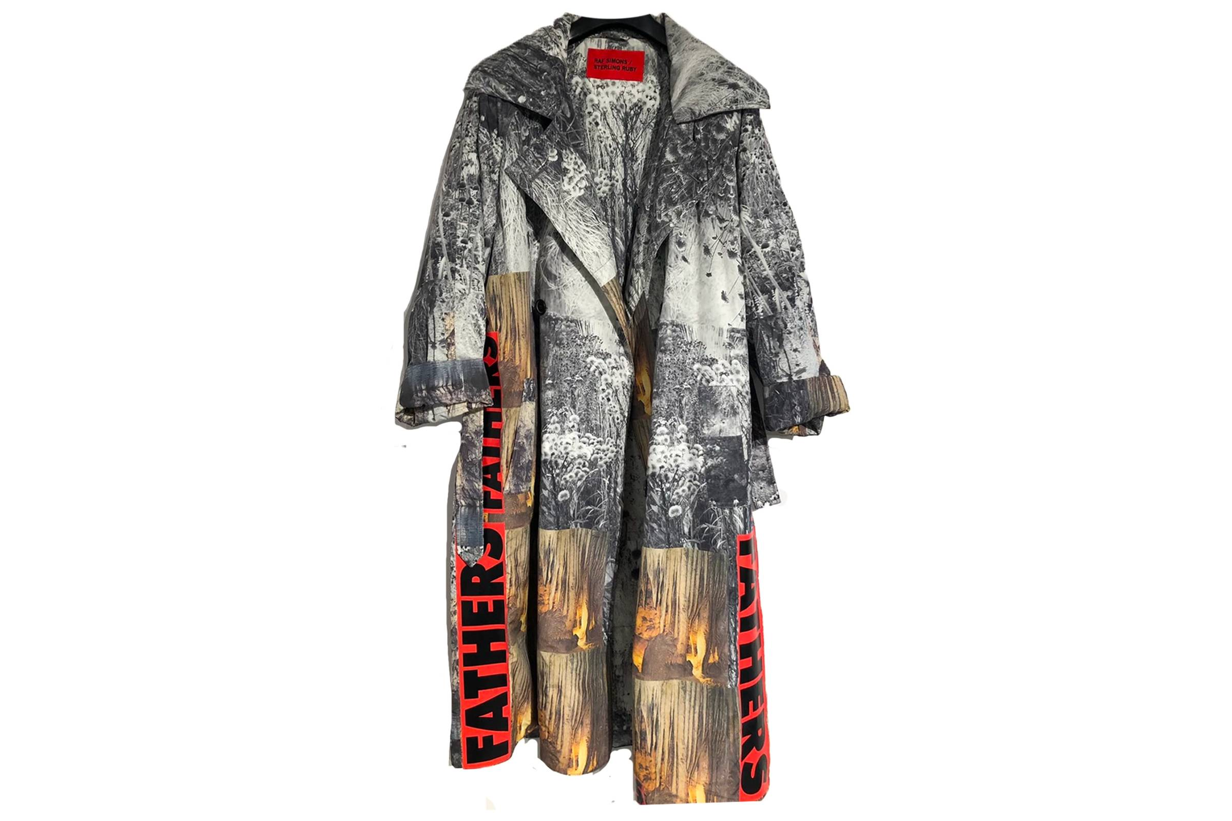 Raf Simons x Sterling Ruby Padded All-Over Print Trench Coat