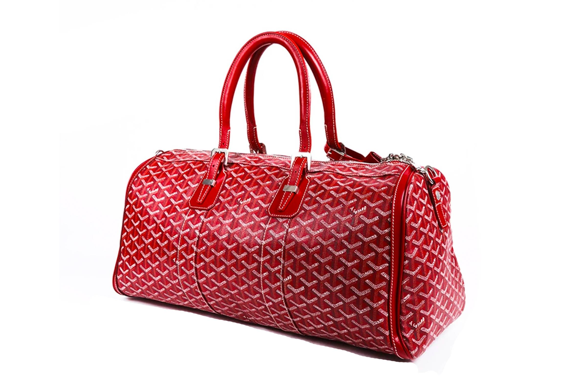 Goyard Red 50 Croisière Keepall Duffle Bag