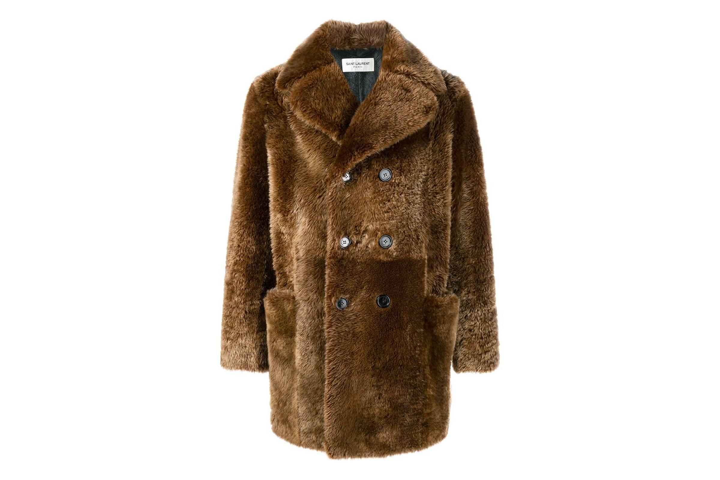 Saint Laurent Paris Shearling Overcoat