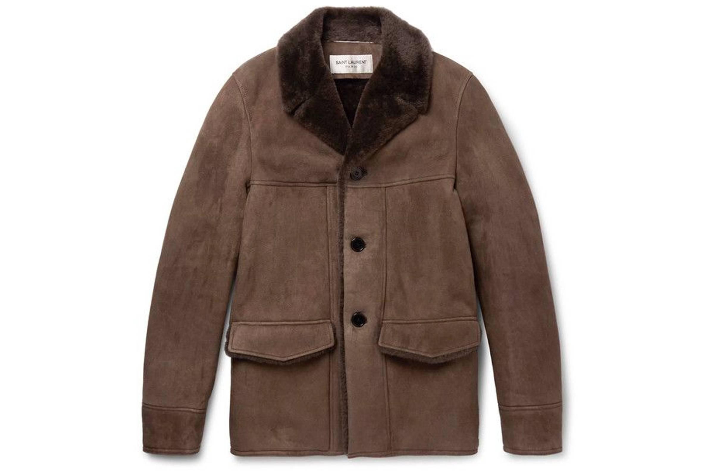 Saint Laurent Paris Shearling Jacket