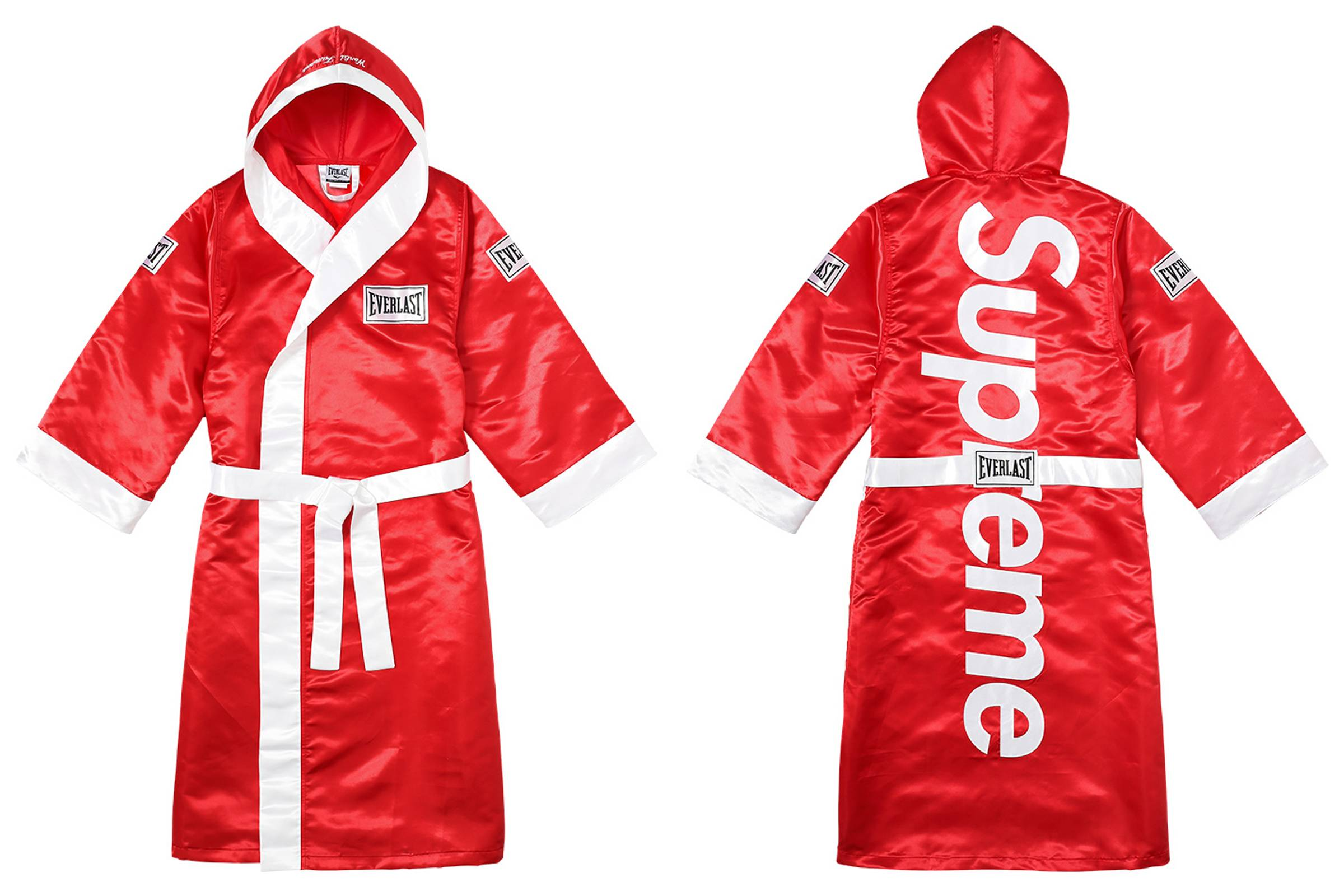 Supreme x Everlast Satin Hooded Robe