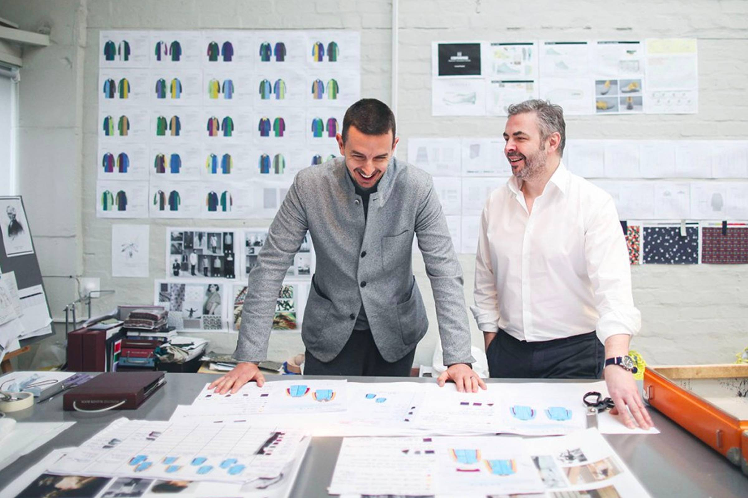 Daniel Dunko (right) working as CEO of Hancock: A heritage label named after Thomas Hancock, inspired by Mackintosh's lineage and launched after Dunko left Mackintosh in 2012