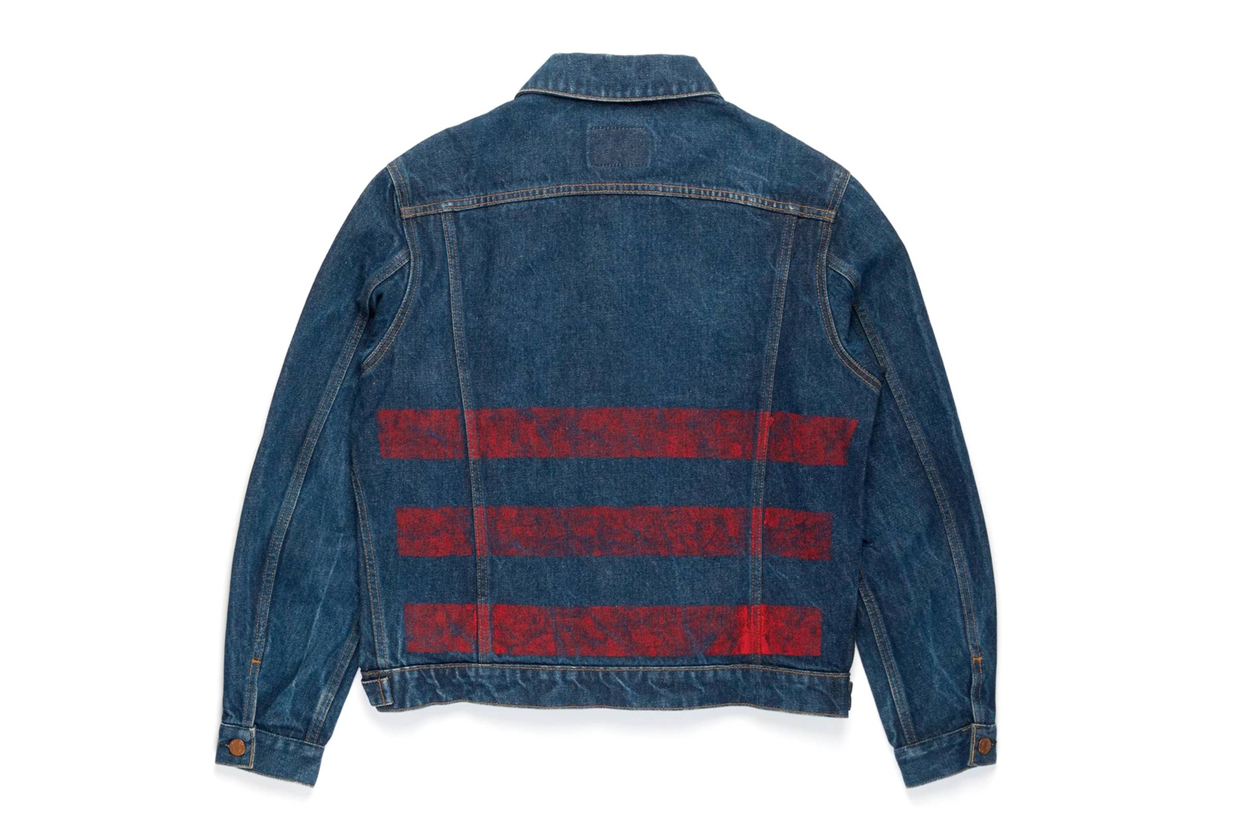 Helmut Lang Painted Stripe Denim Jacket
