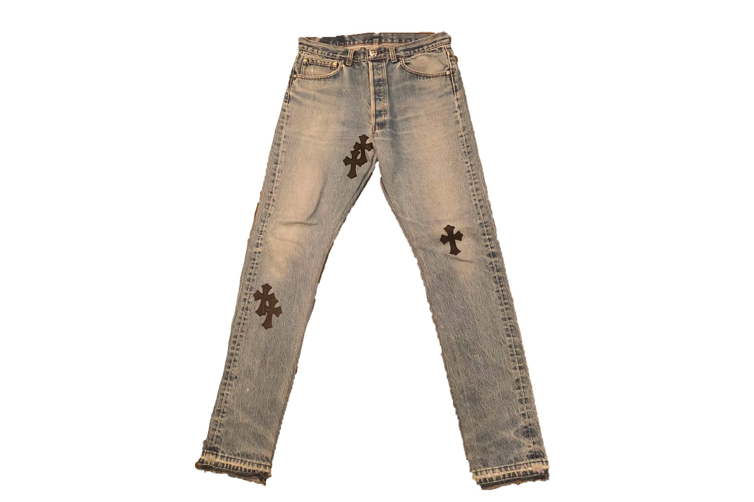 Chrome Hearts Leather Applique Jeans