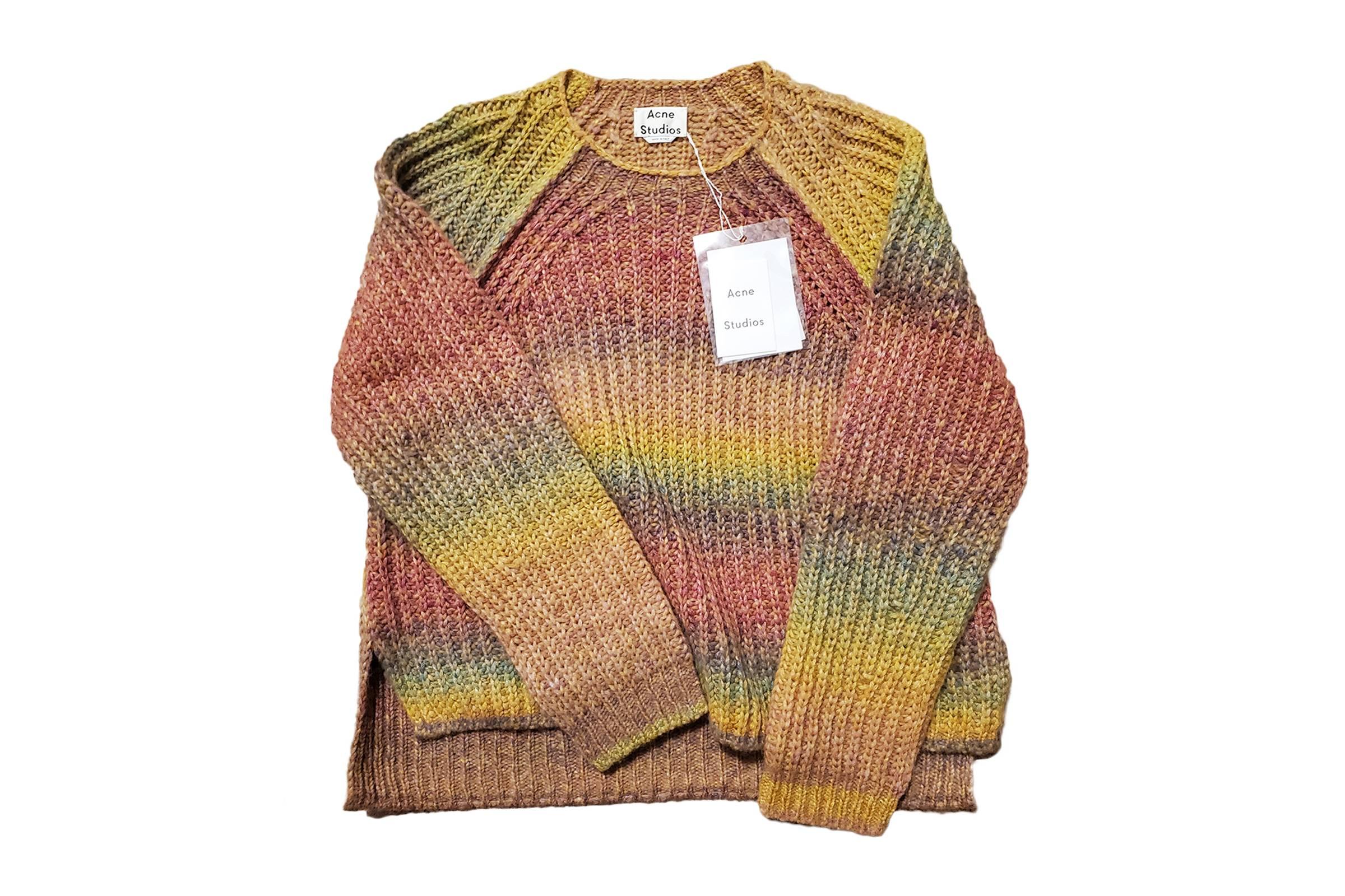 Acne Studios Fall/Winter 2019 Multicolor Ombré Knit Raglan Sweater