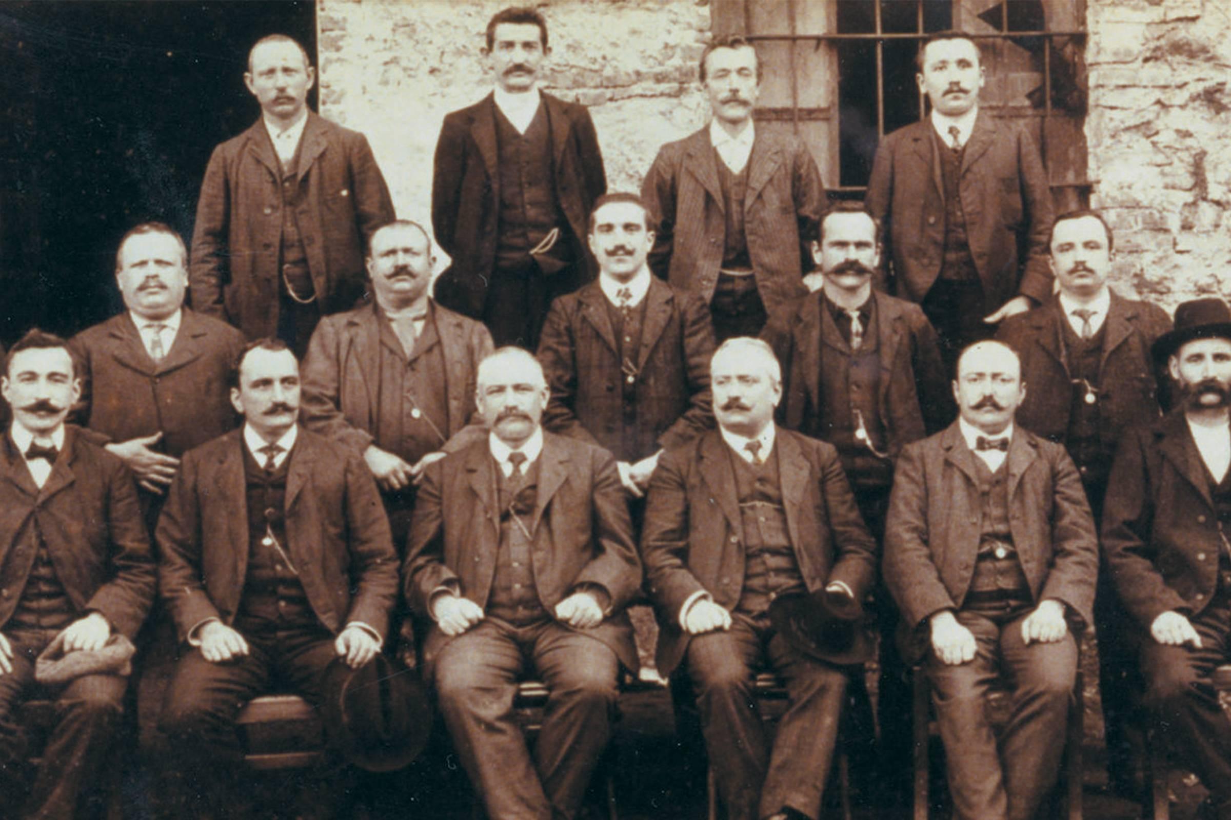 The original staff at Lanificio di Quarona di Zignone & C.
