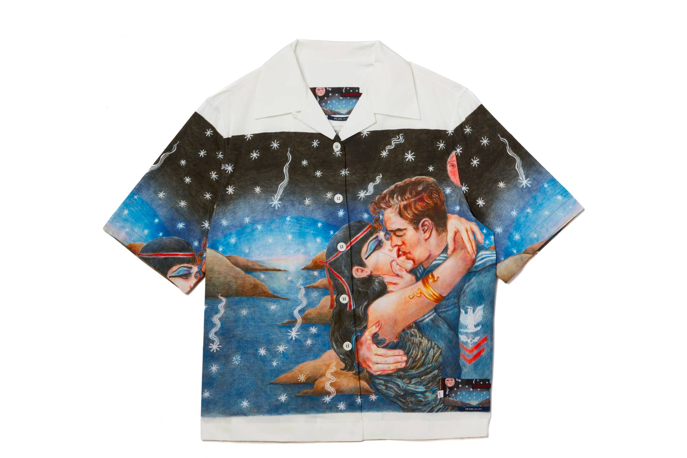 "Prada ""Impossible True Love"" Camp Collar Shirt (Rayon Prototype)"