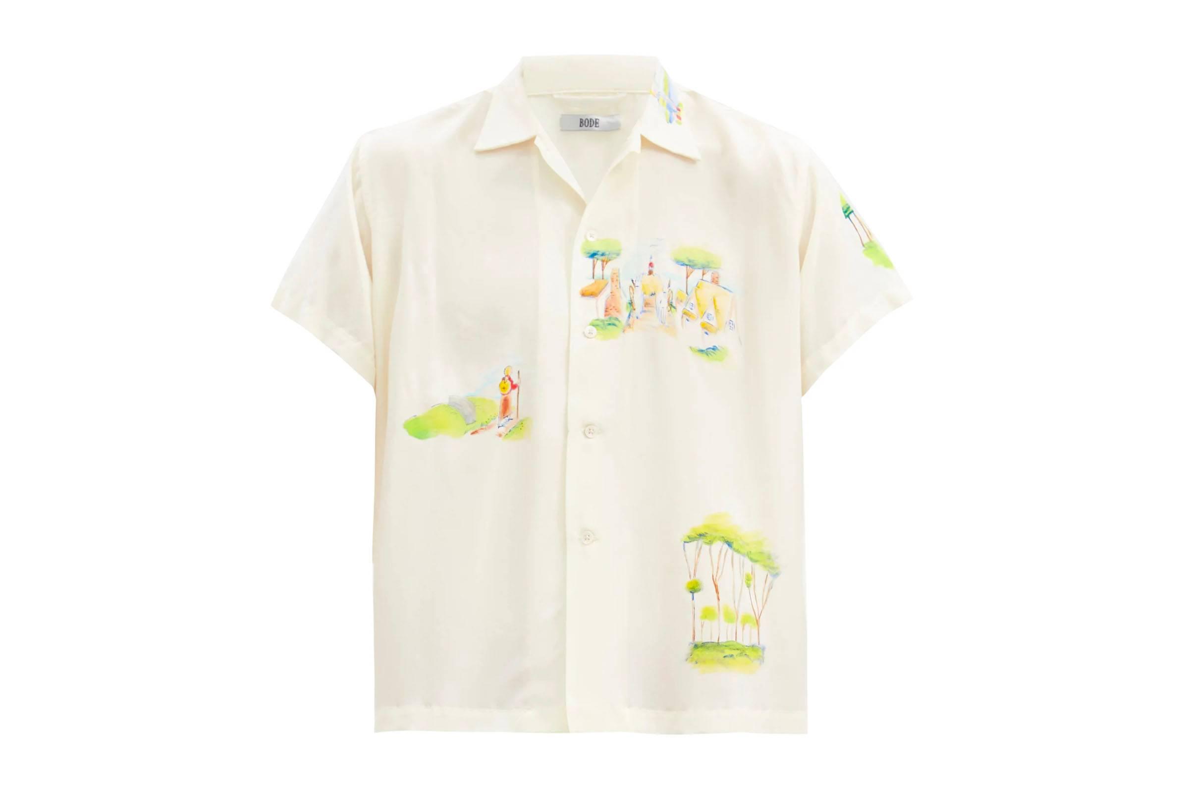 Bode Painted Silk Shirt