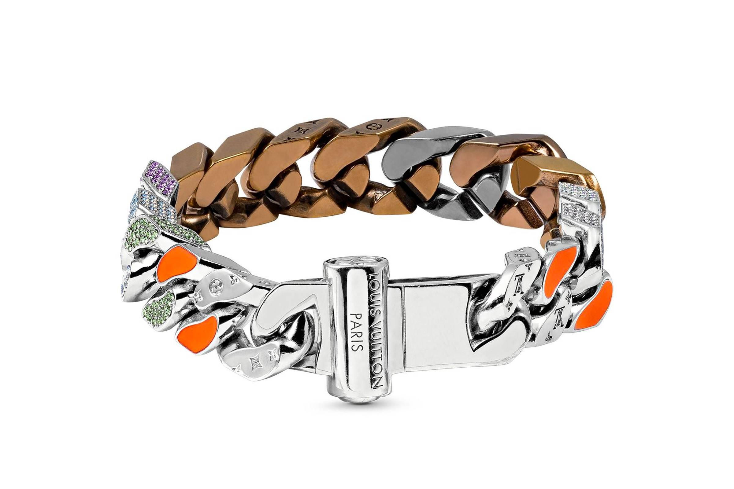 Louis Vuitton Chains Links Patches Bracelet