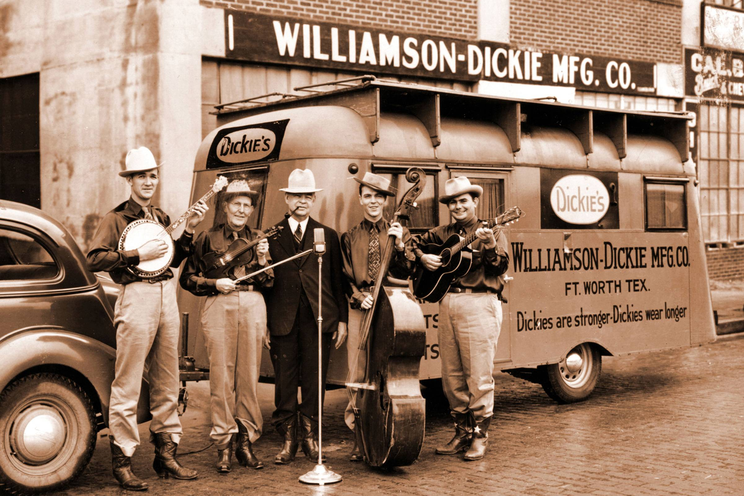 c854703049b5 Dickies (formally Williamson-Dickie Mfg. Co.) started life as a small bib  overall company. C.N. Williamson and E.E. Colonel Dickie tried several  other ...