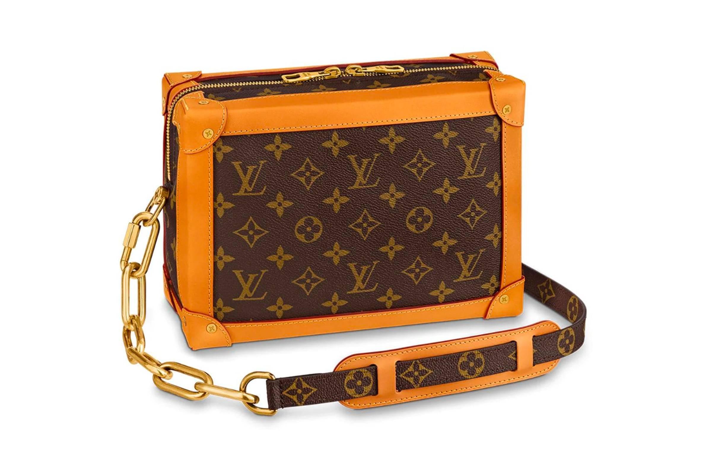 Louis Vuitton Soft Trunk Monogram Gold Tone Brown