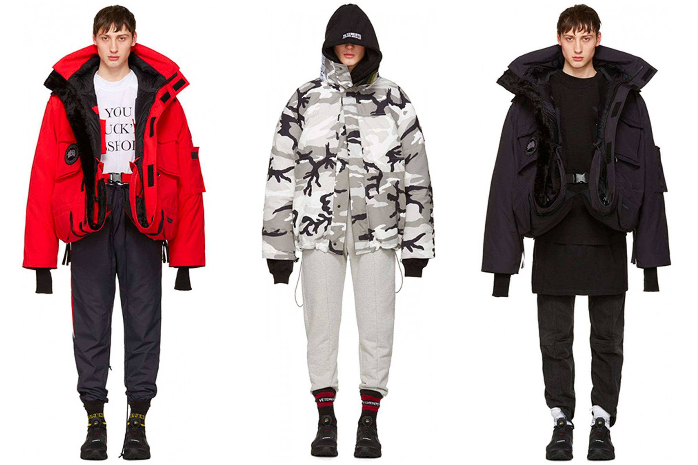Canada Goose collaboration outerwear from Vetements' Spring/Summer 2017 collection