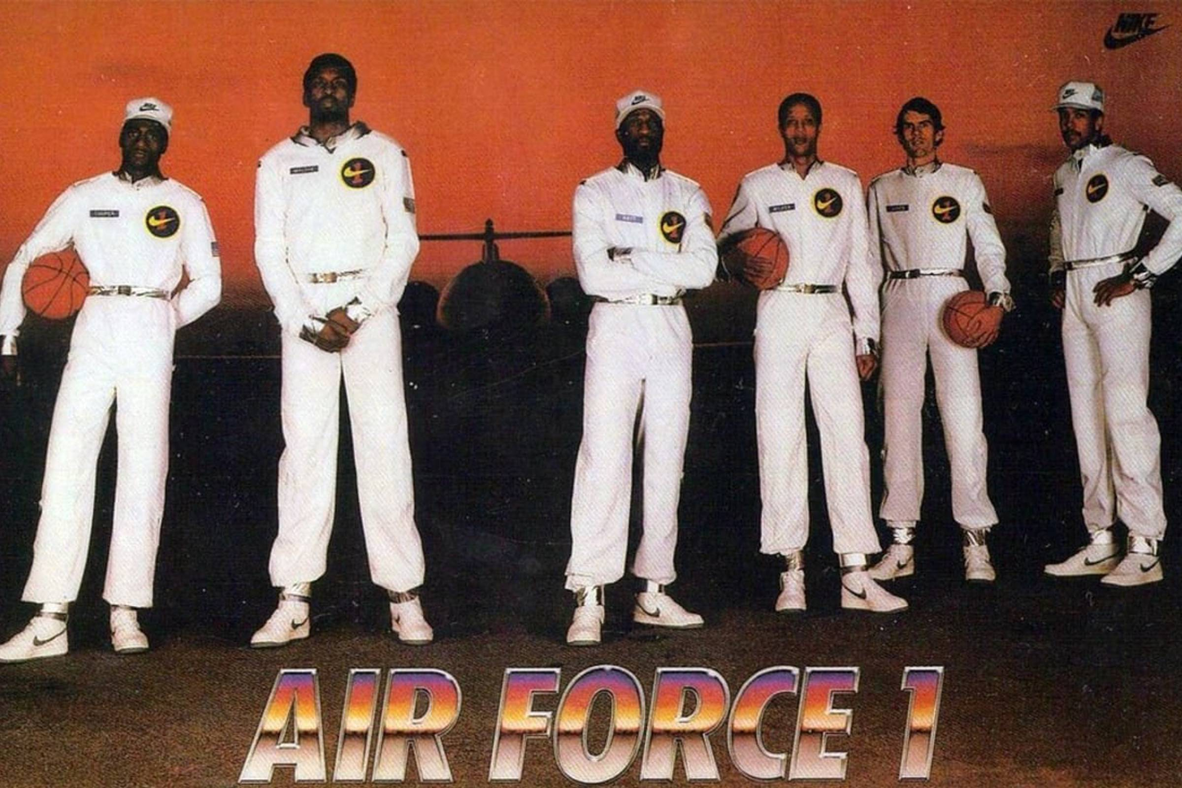 "The ""Original Six"" Air Force 1 campaign featuring: Michael Cooper, Bobby Jones, Moses Malone, Calvin Natt, Mychal Thompson and Jamaal Wilkes"