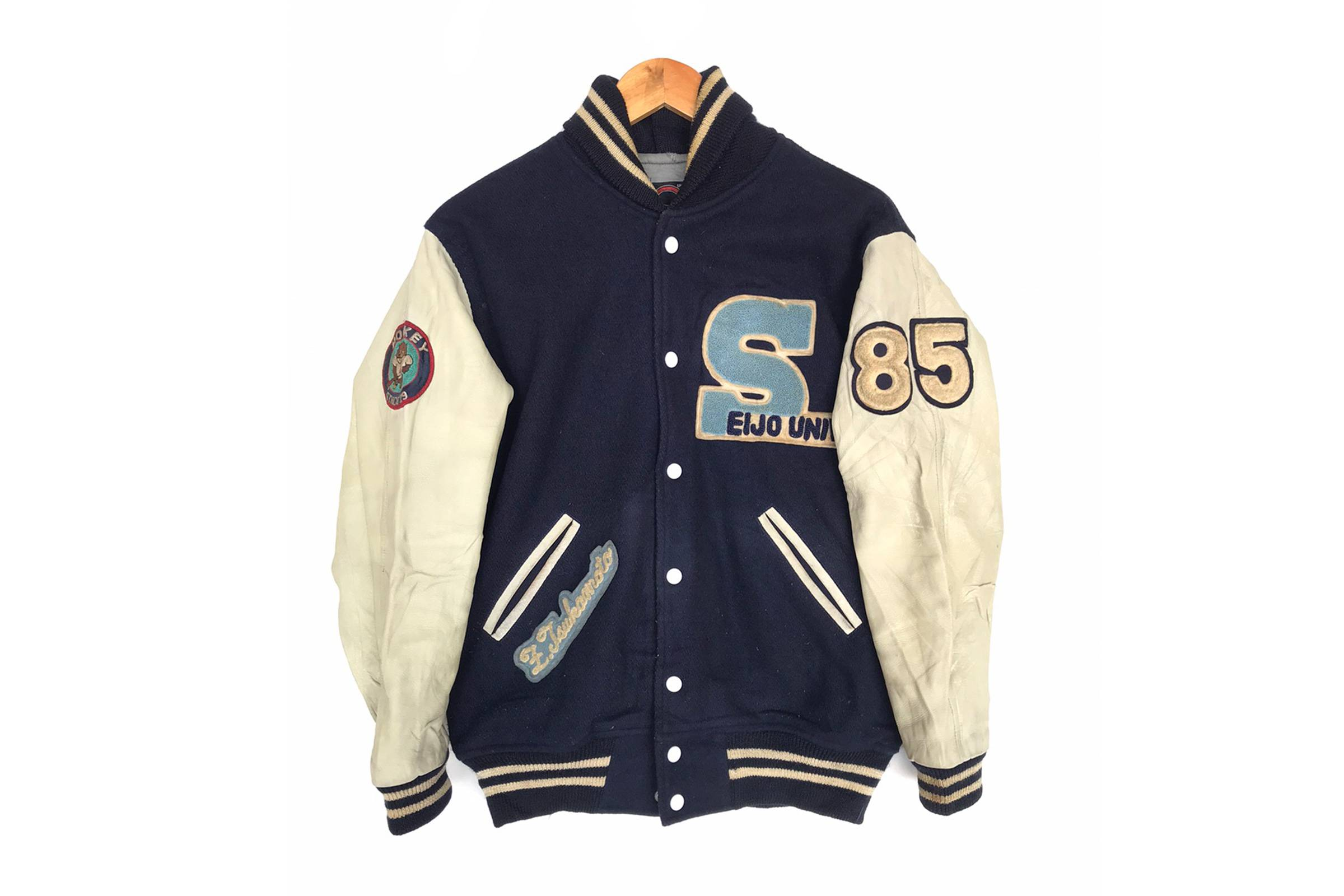 Vintage '80s Eijo University Hockey Team Varsity Jacket