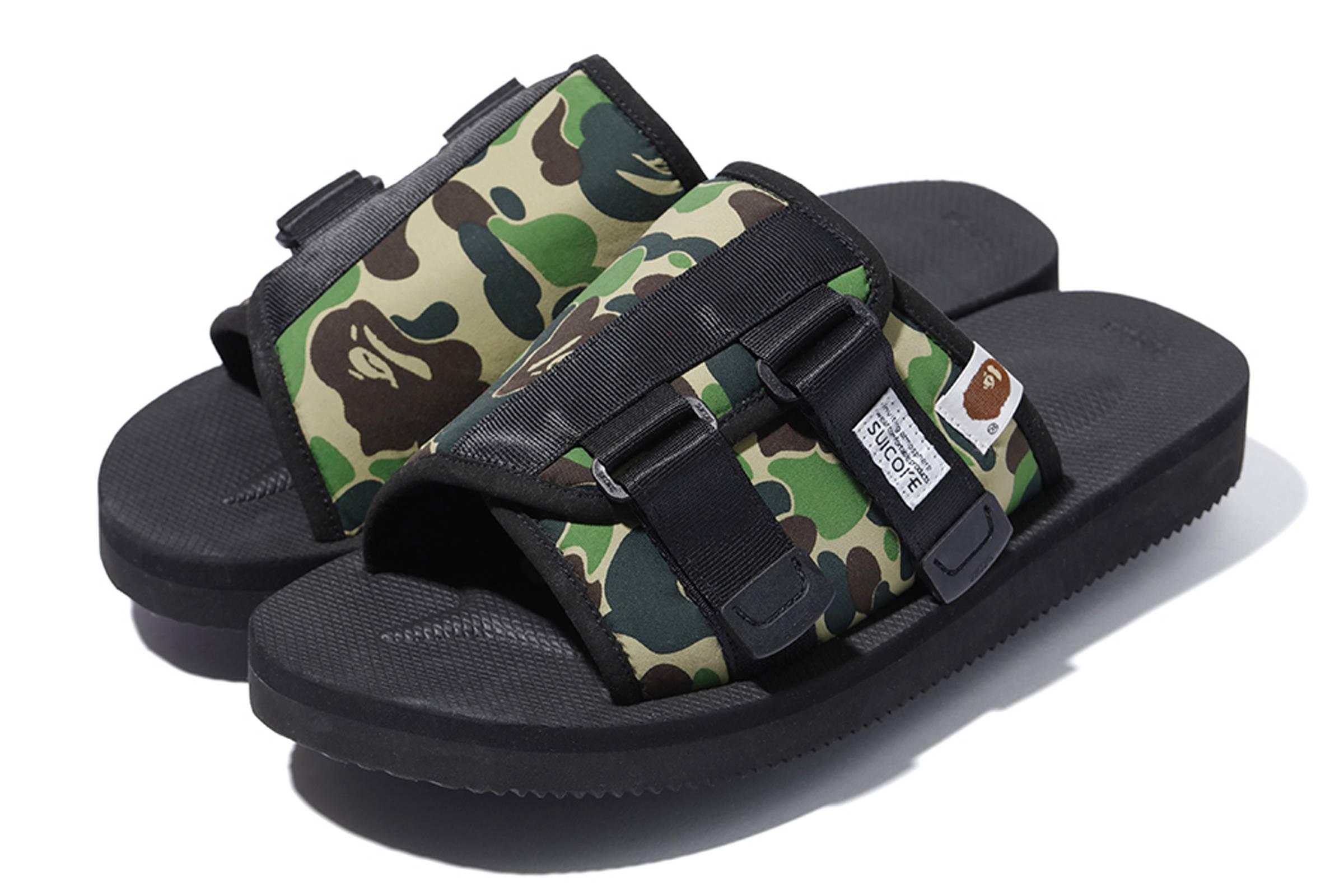 BAPE x Suicoke KAW-APE sandals