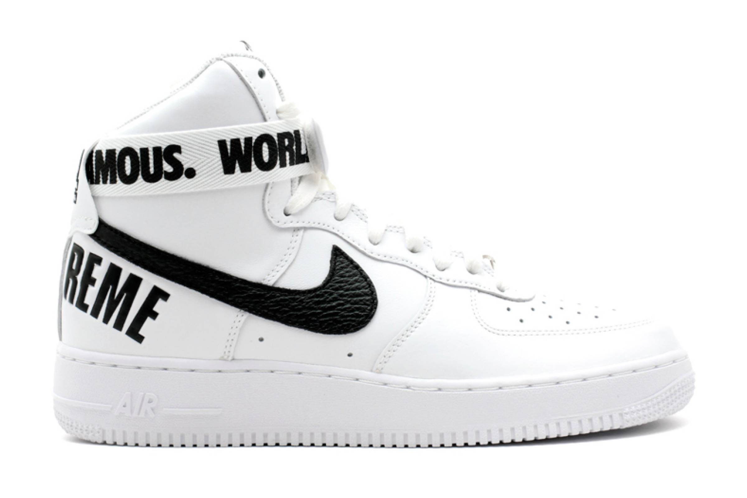 "Supreme x Nike Air Force 1 High ""White"""