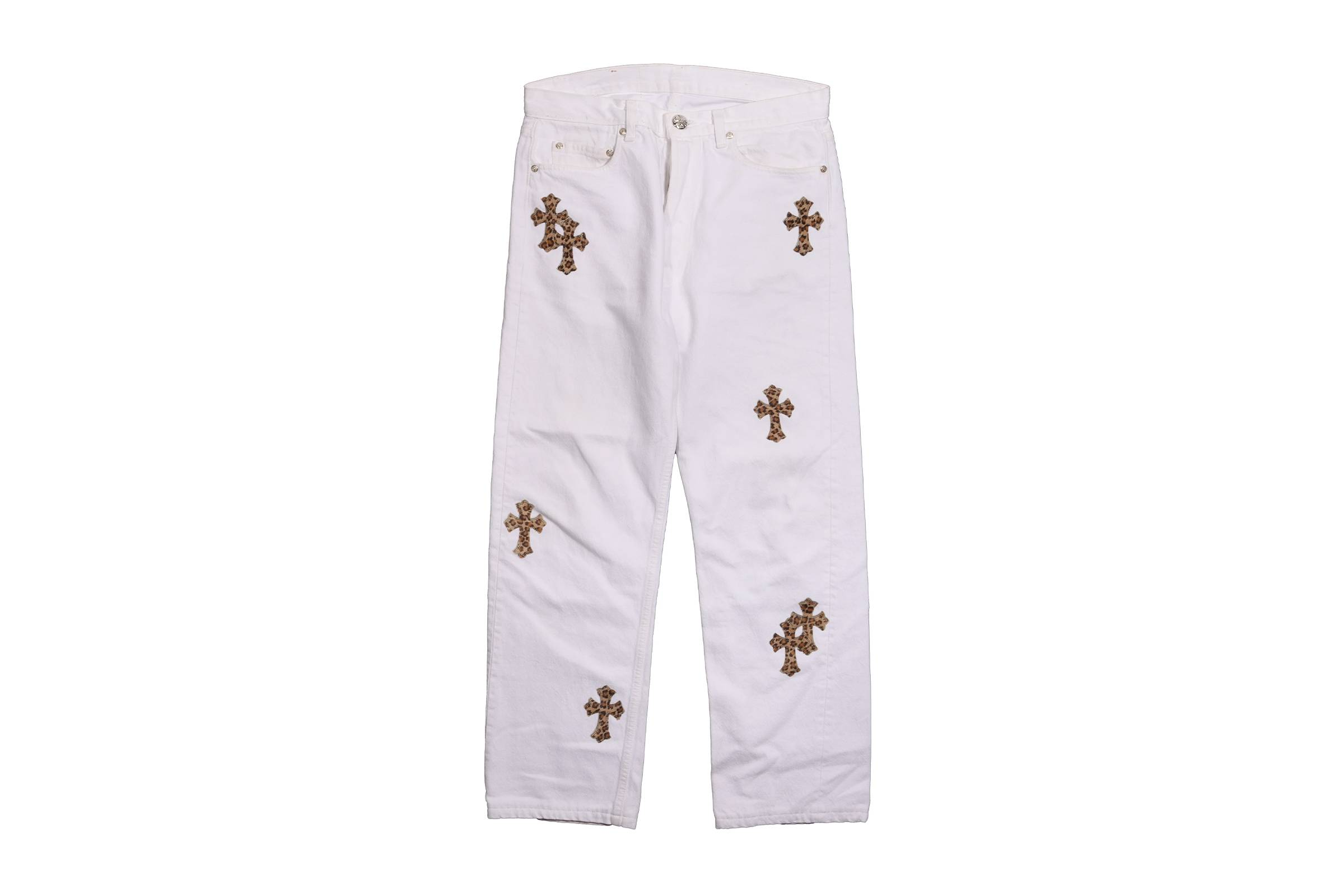 Chrome Hearts x Levi's Leopard Cross Patchwork Denim