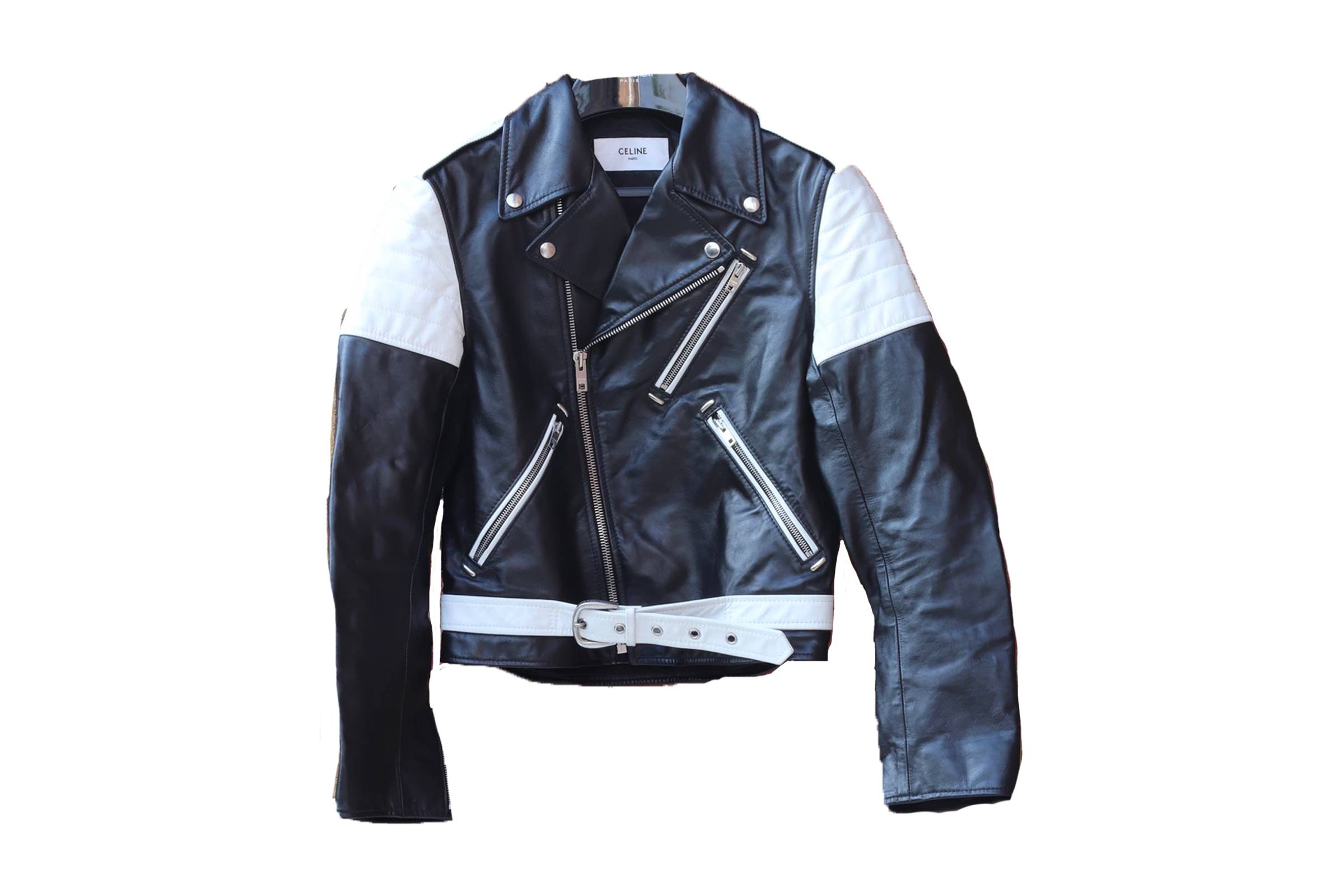 Celine Padded Leather Calfskin Biker Jacket