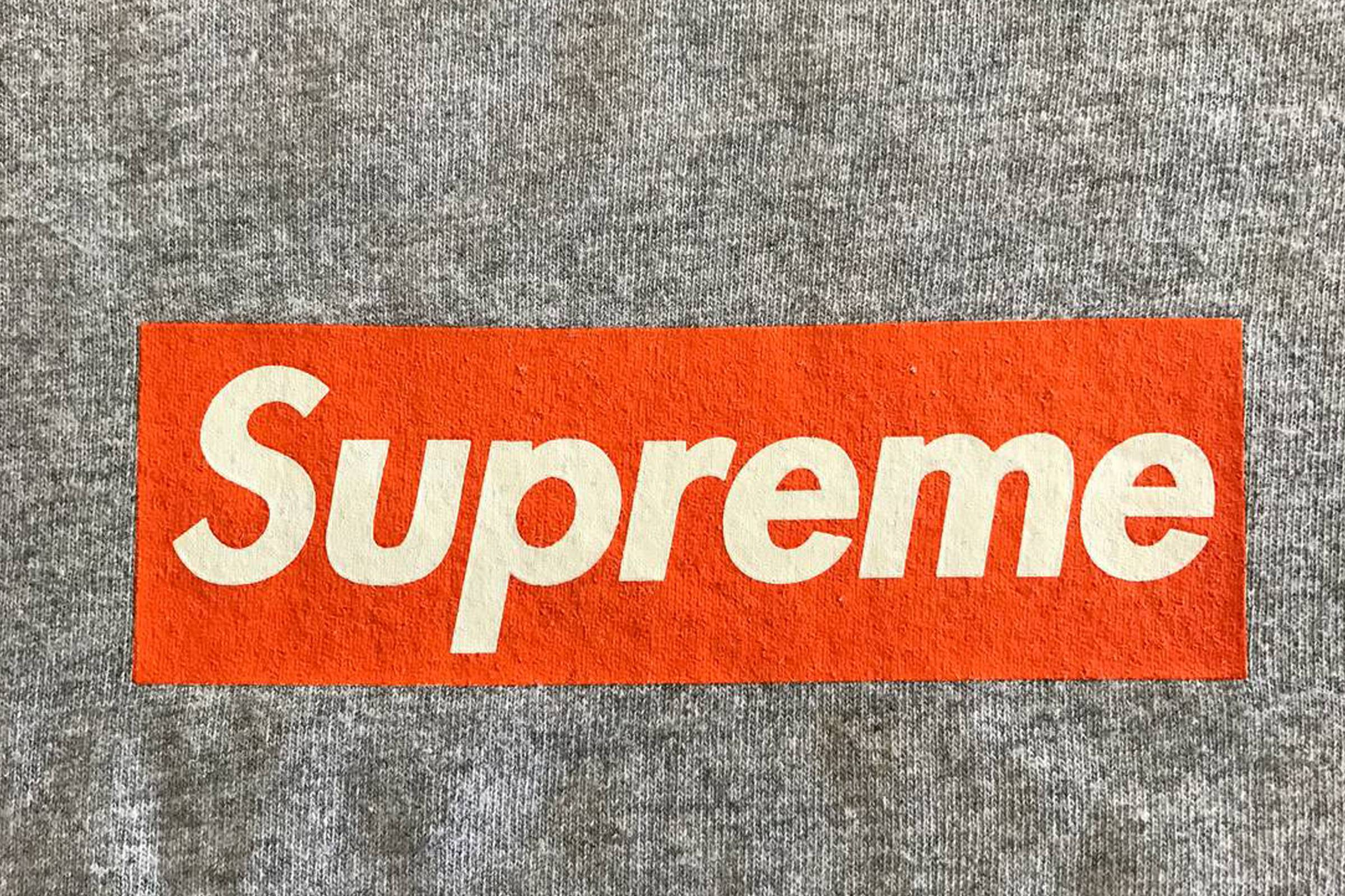 Supreme 1998 Orange Box Logo, from the wardrobe of Nick Rubin