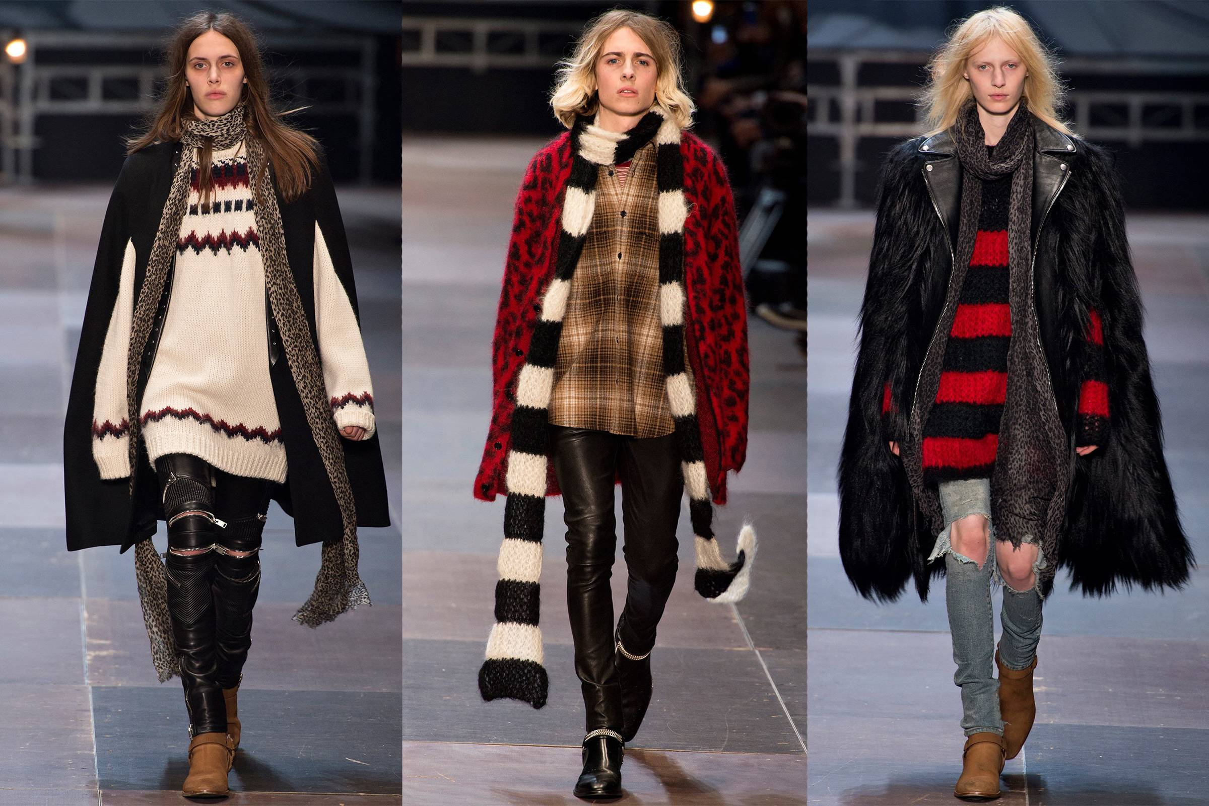 Saint Laurent Fall/Winter 2013 menswear collection (all models wearing the Wyatt boot)
