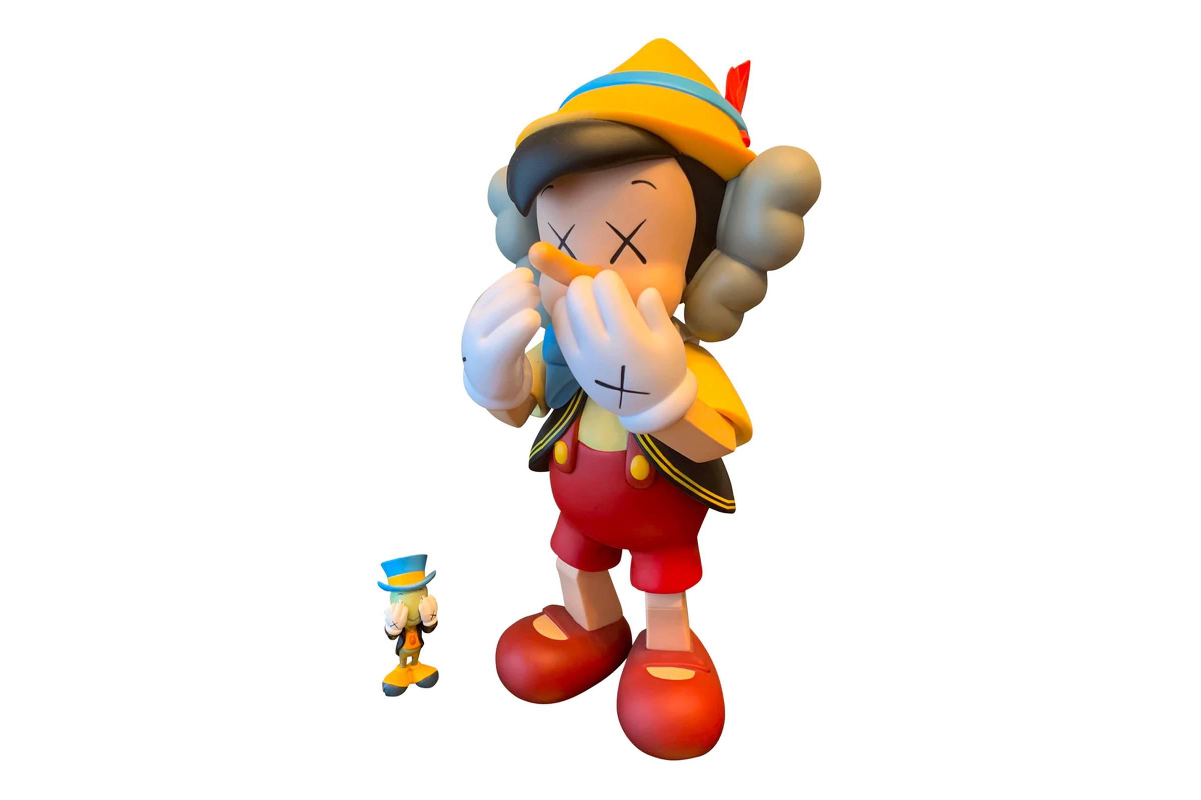 KAWS x Medicom Toy Pinnochio and Jiminy Cricket Vinyl