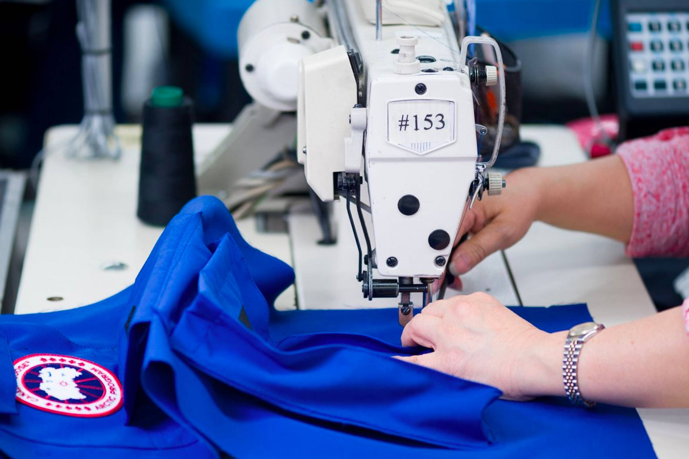 A Canada Goose jacket in production at one of the brand's Canadian factories