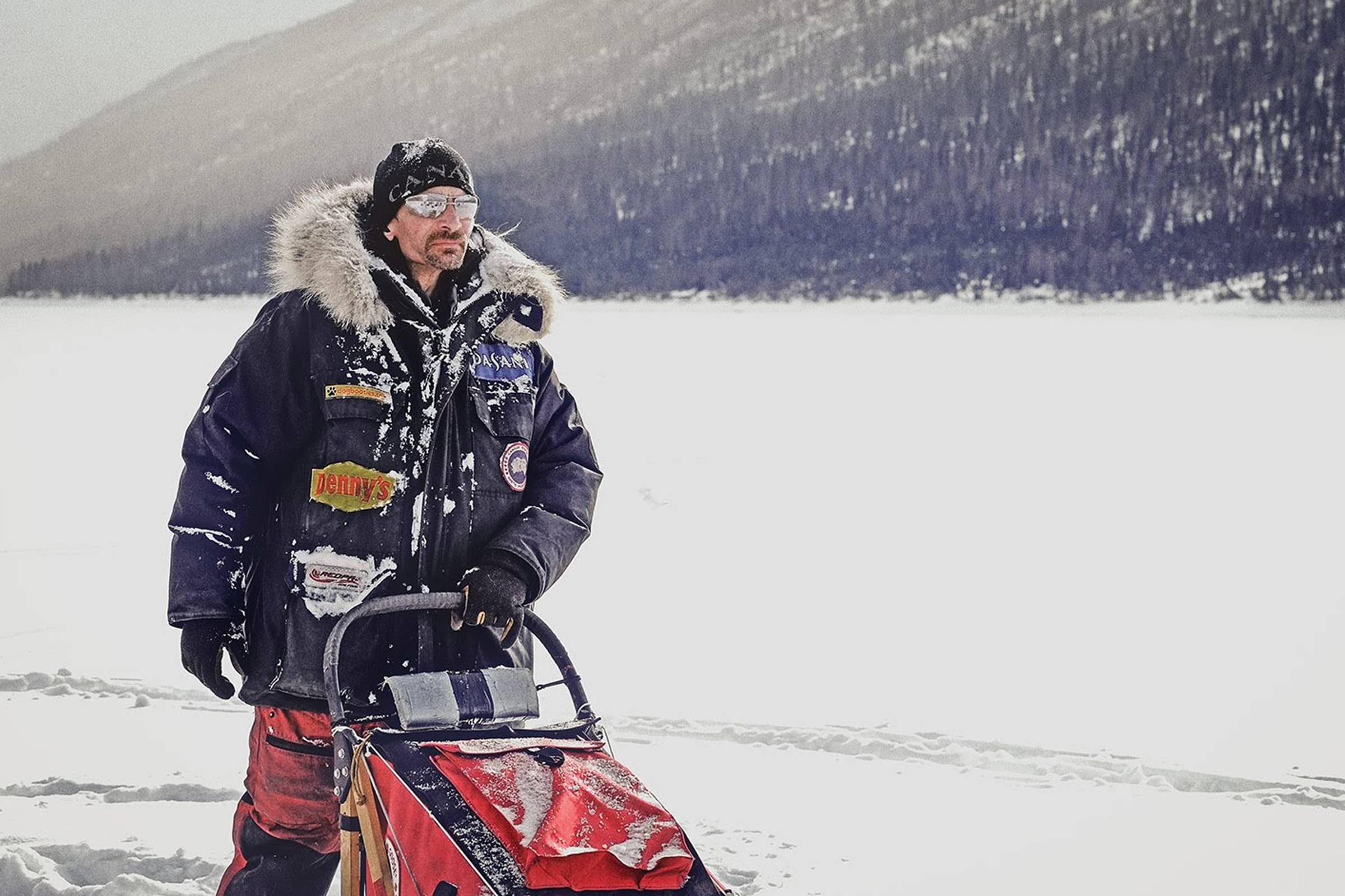Lance Mackey, champion dogsled musher, in a Canada Goose