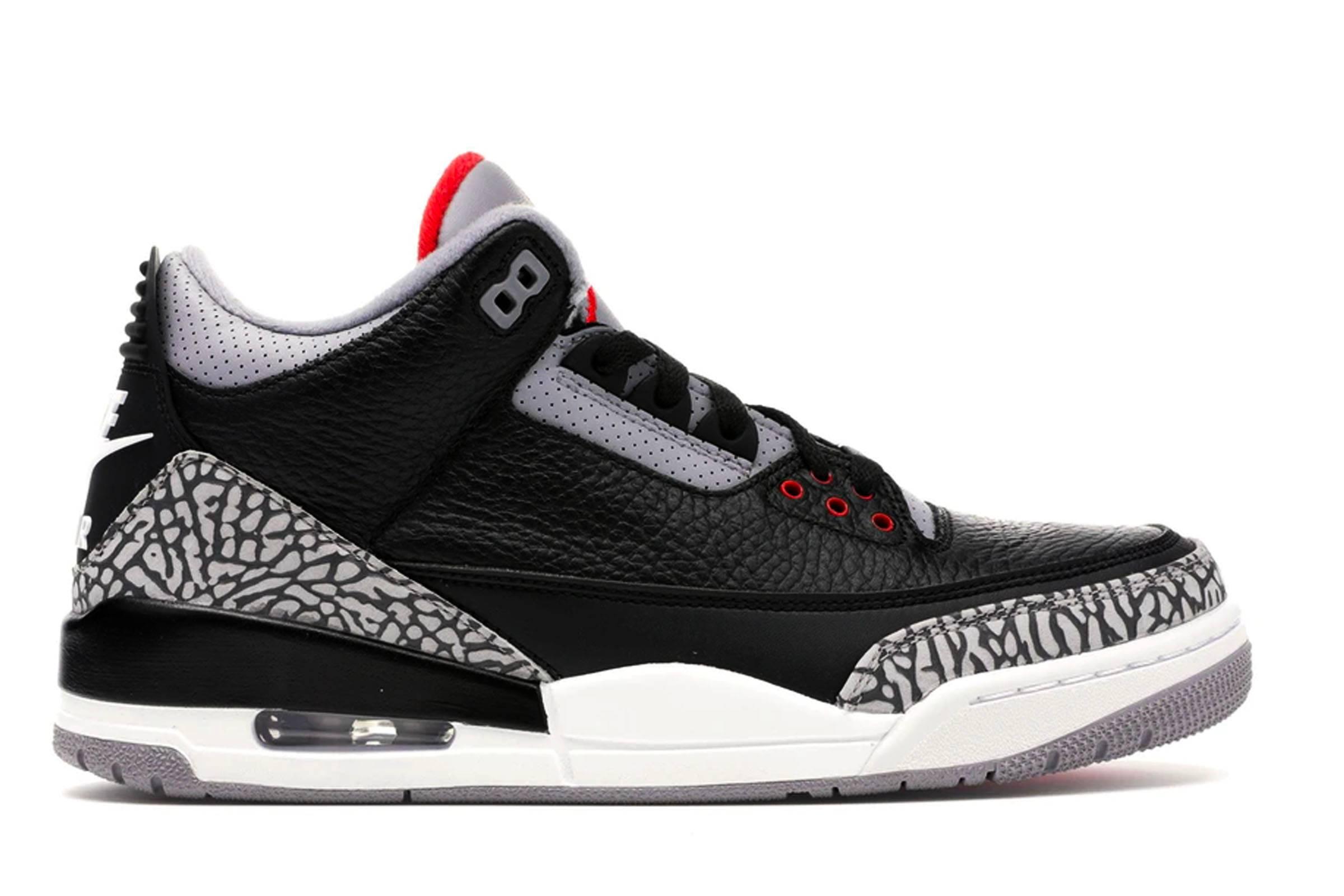 """8. Jordan III """"Black Cement"""""""