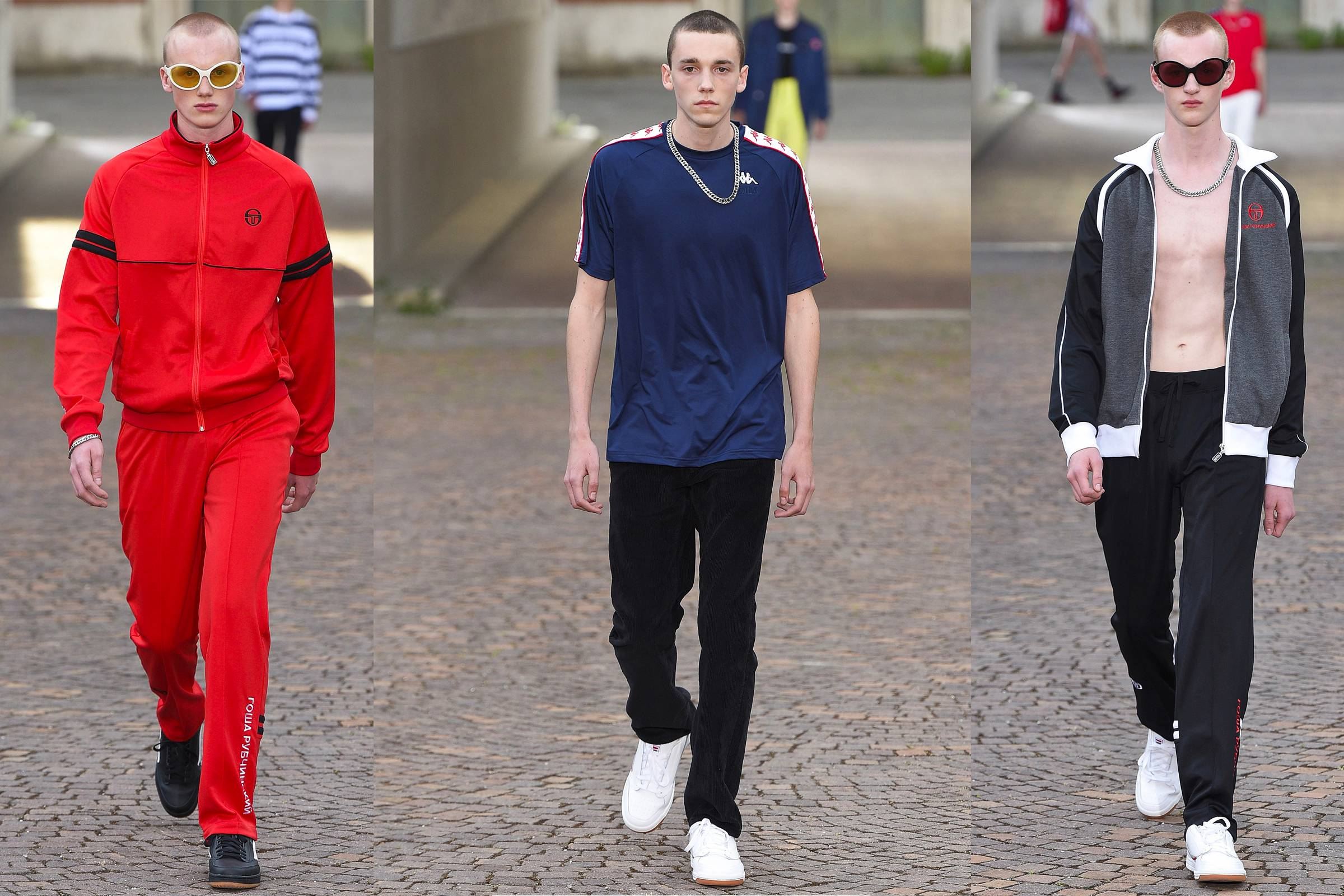 bb974acba03 Looks from Gosha Rubchinskiy's Spring/Summer 2017 collection at Pitti Uomo