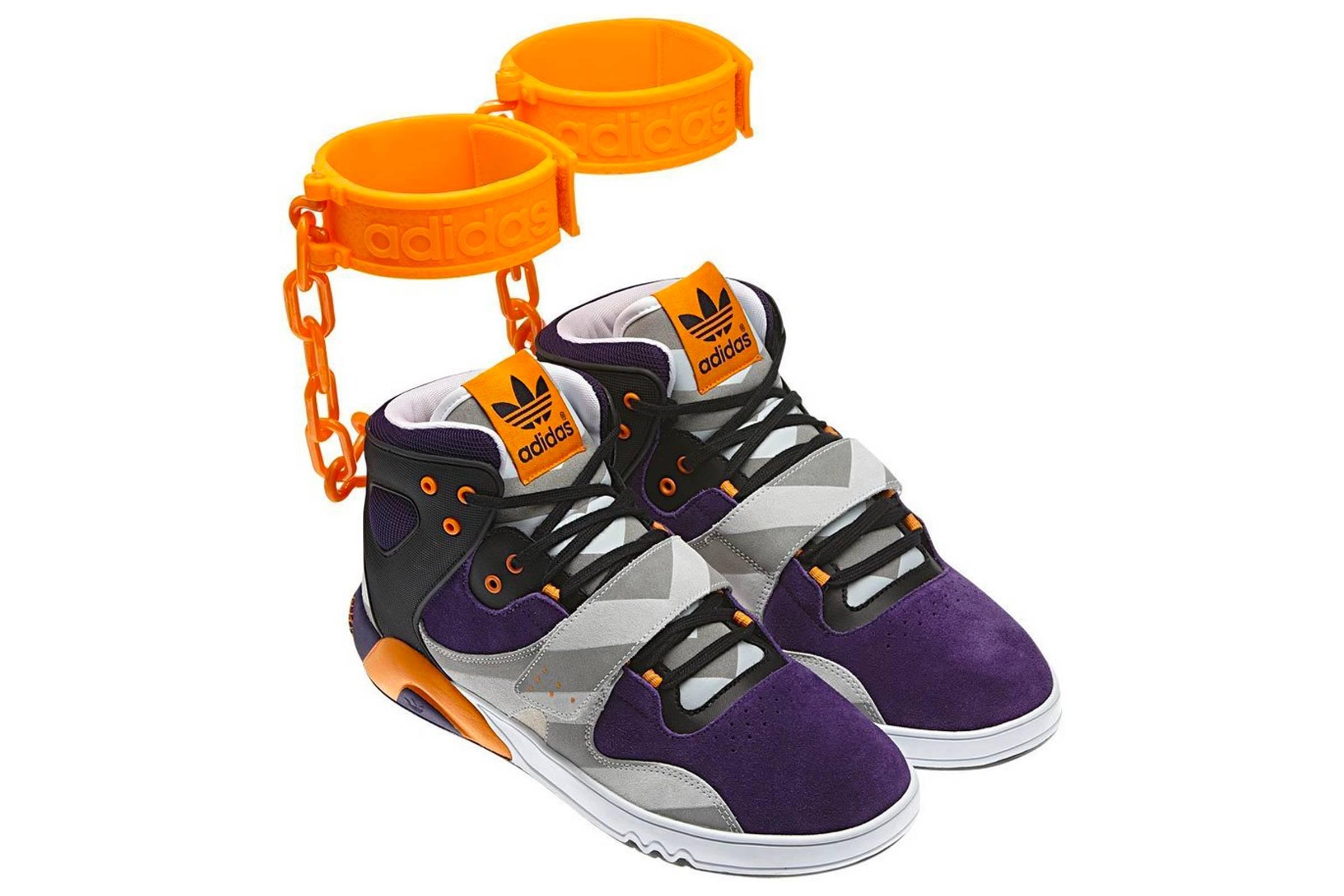 """Jeremy Scott x adidas Roundhouse Mid (""""Shackle Shoes"""")"""