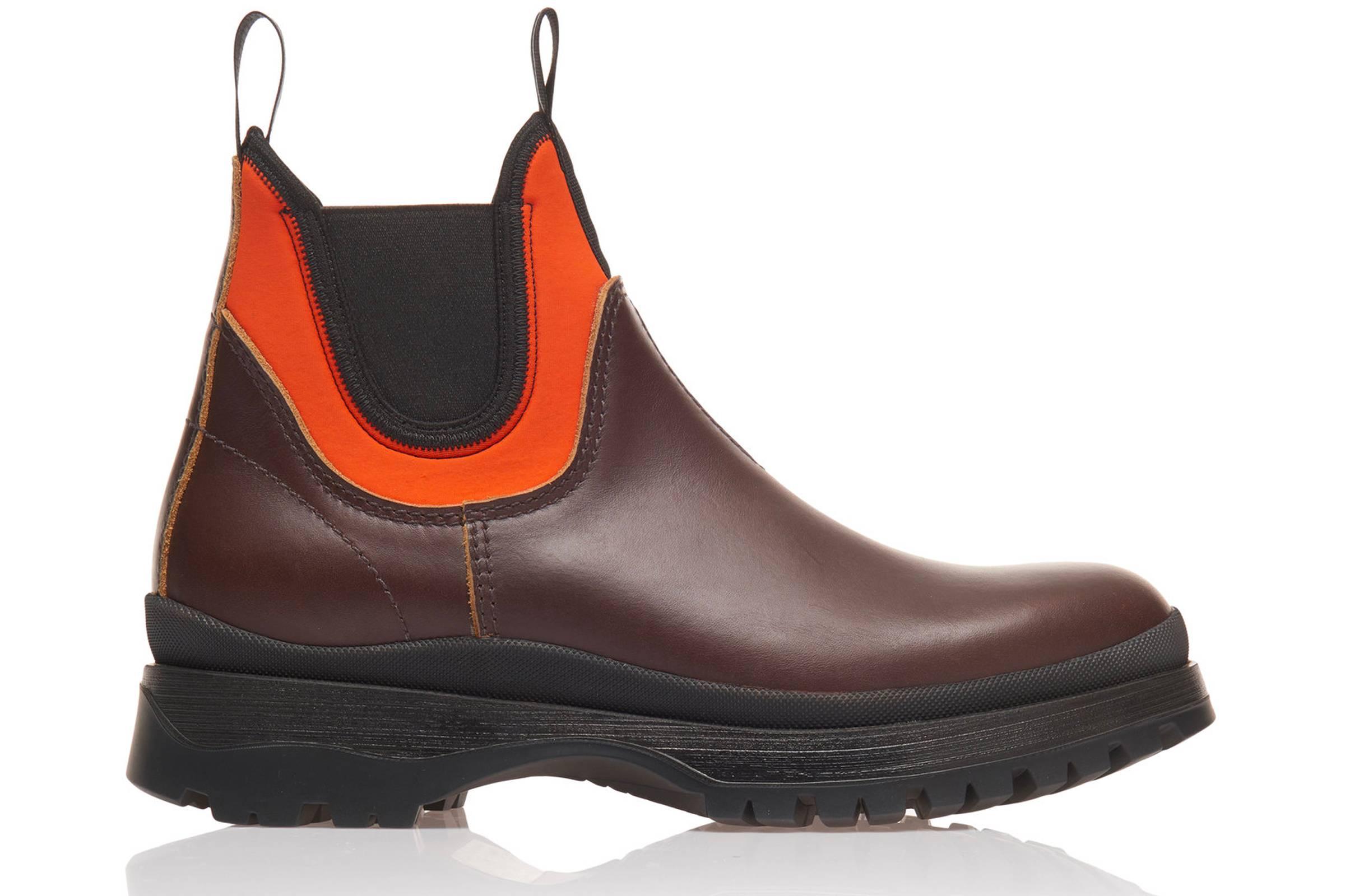 Prada Brixxen Leather and Neoprene Bootie