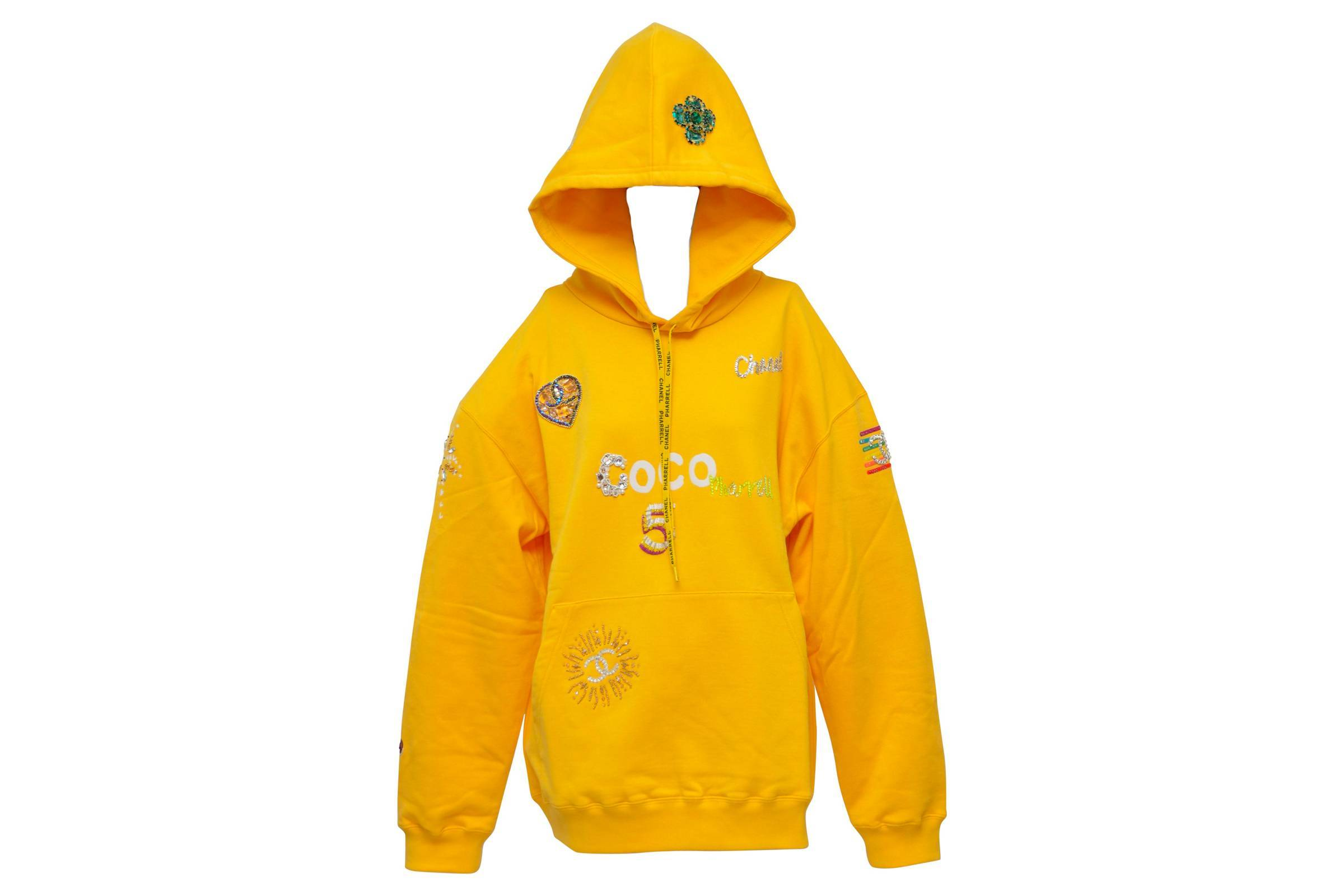 Pharrell x Chanel Lesage Embroidery Yellow Hoodie