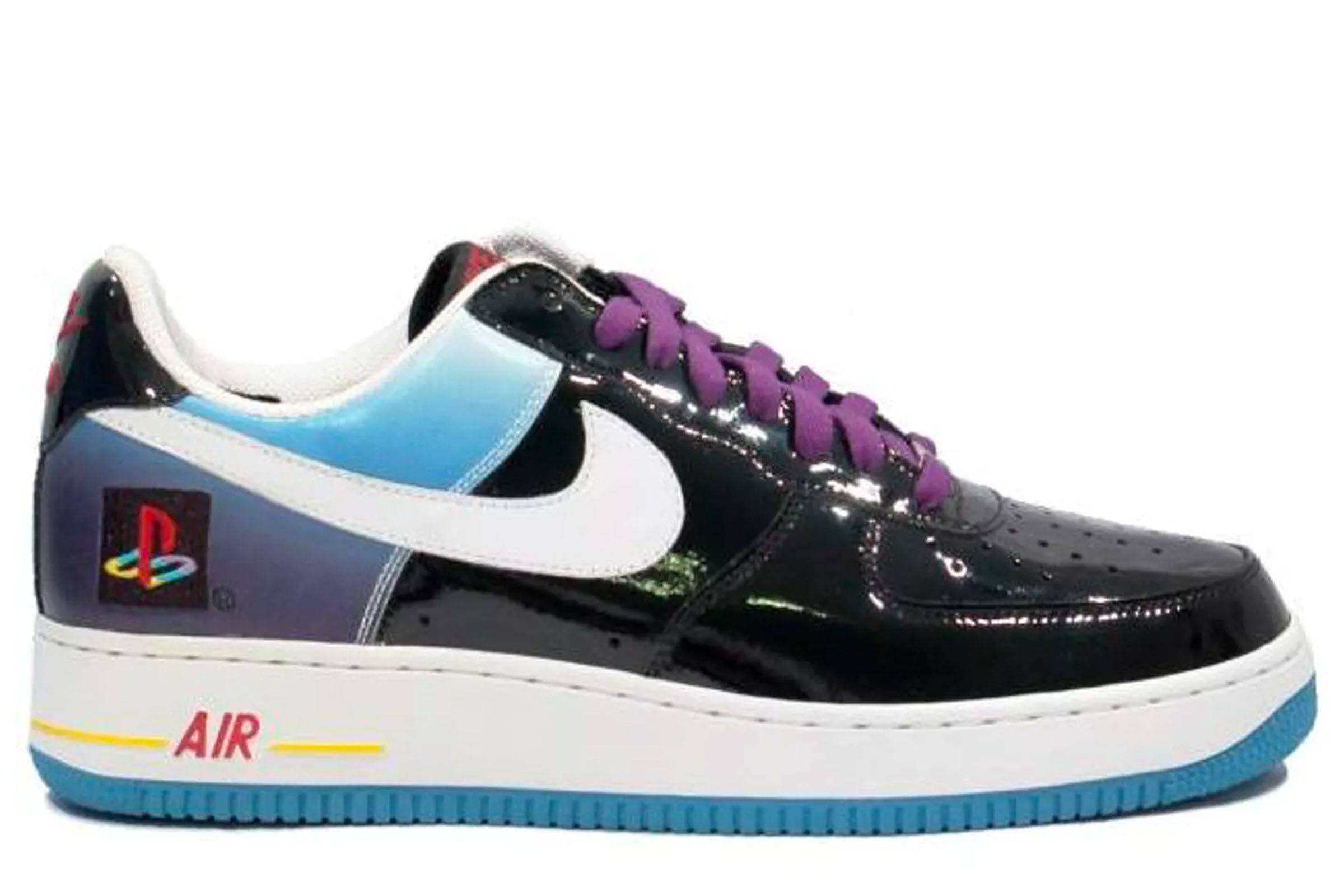 more photos 856da f7eb6 The Nike x Sony Playstation-themed Air Force 1 is so garish that it would  be a collector s item, even without being a collaboration. Patent leather on  the ...