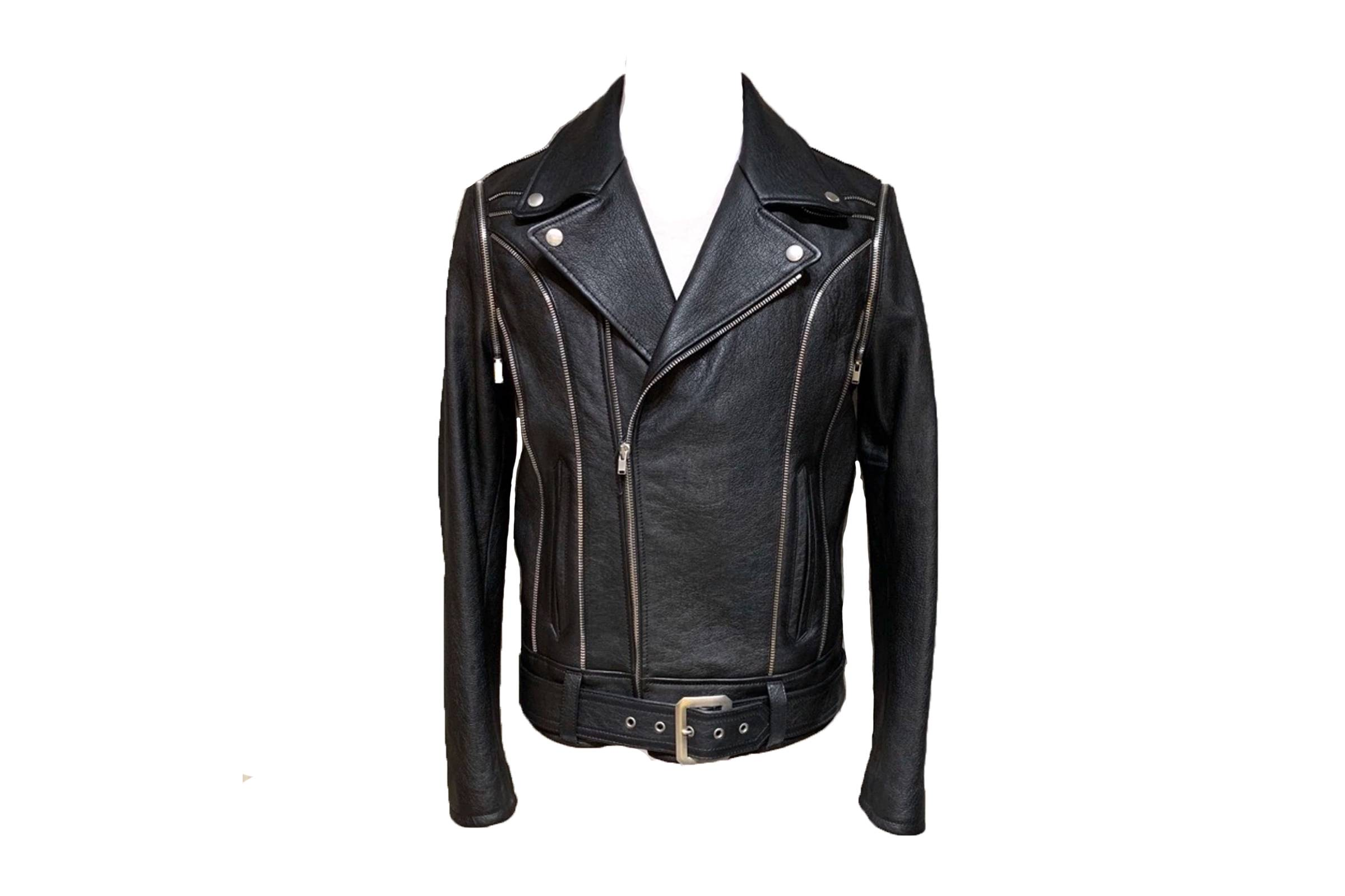 Saint Laurent Paris Zipper Leather Jacket