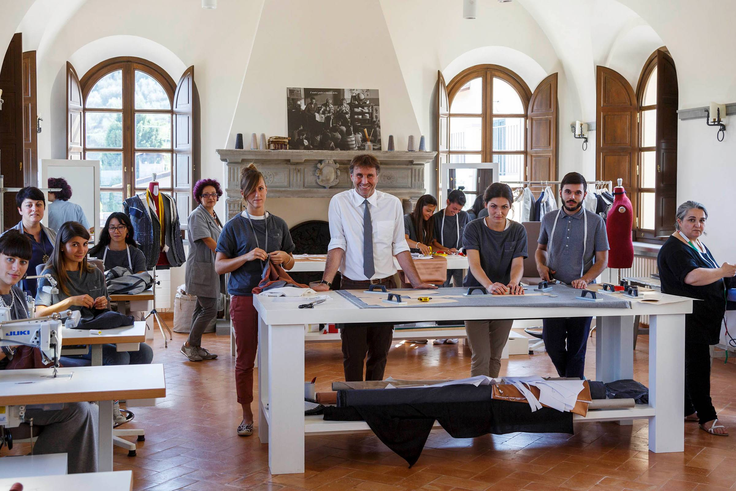 Brunello Cucinelli at The School of Arts and Crafts in Solemeo